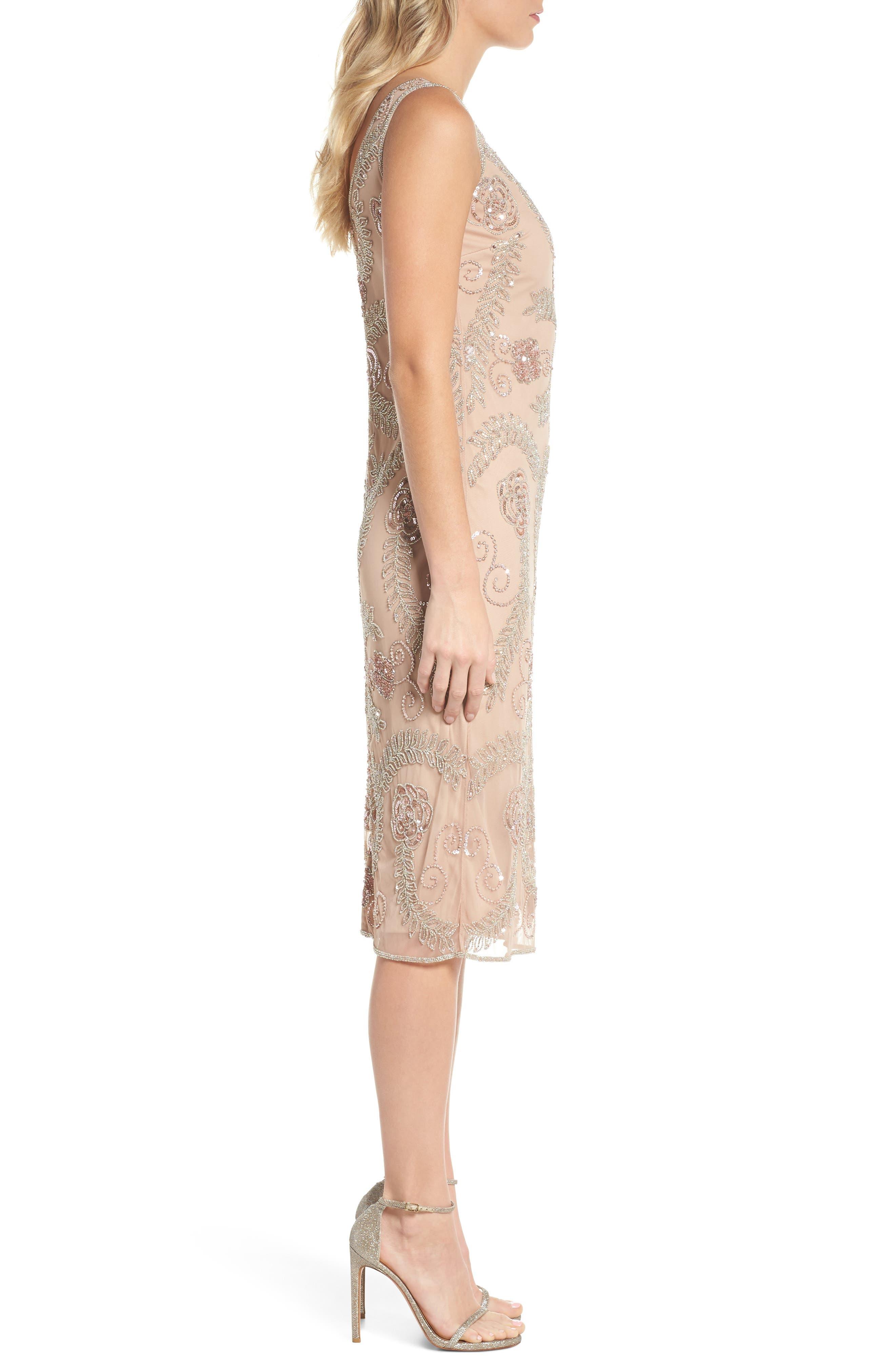 Alternate Image 3  - Pisarro Nights Beaded Pencil Dress (Regular & Petite)