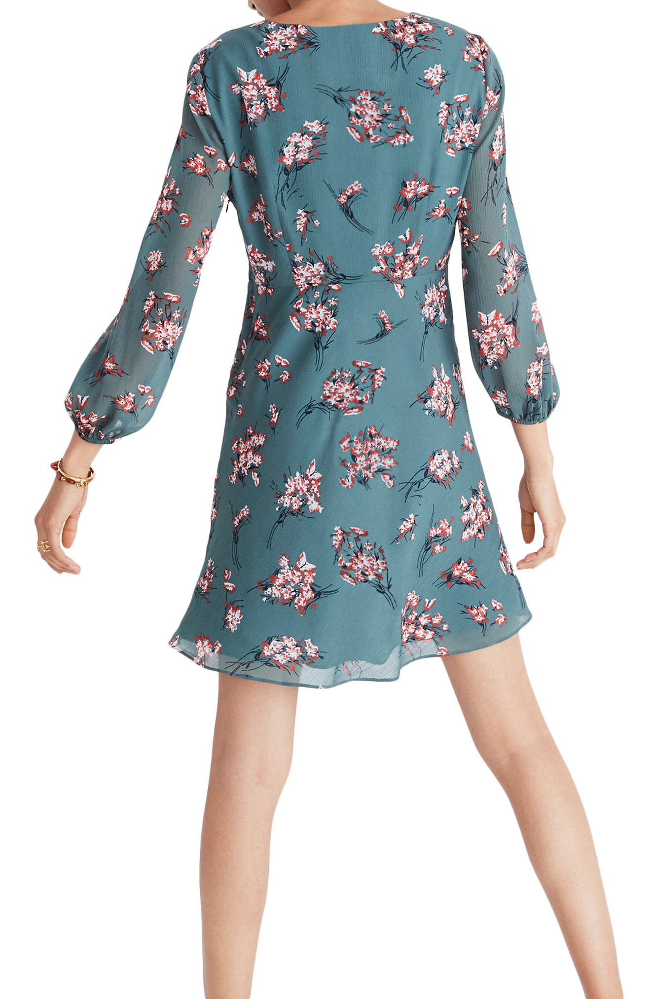 Marguerite Swing Dress,                             Alternate thumbnail 2, color,                             Butterfly Meadow Green