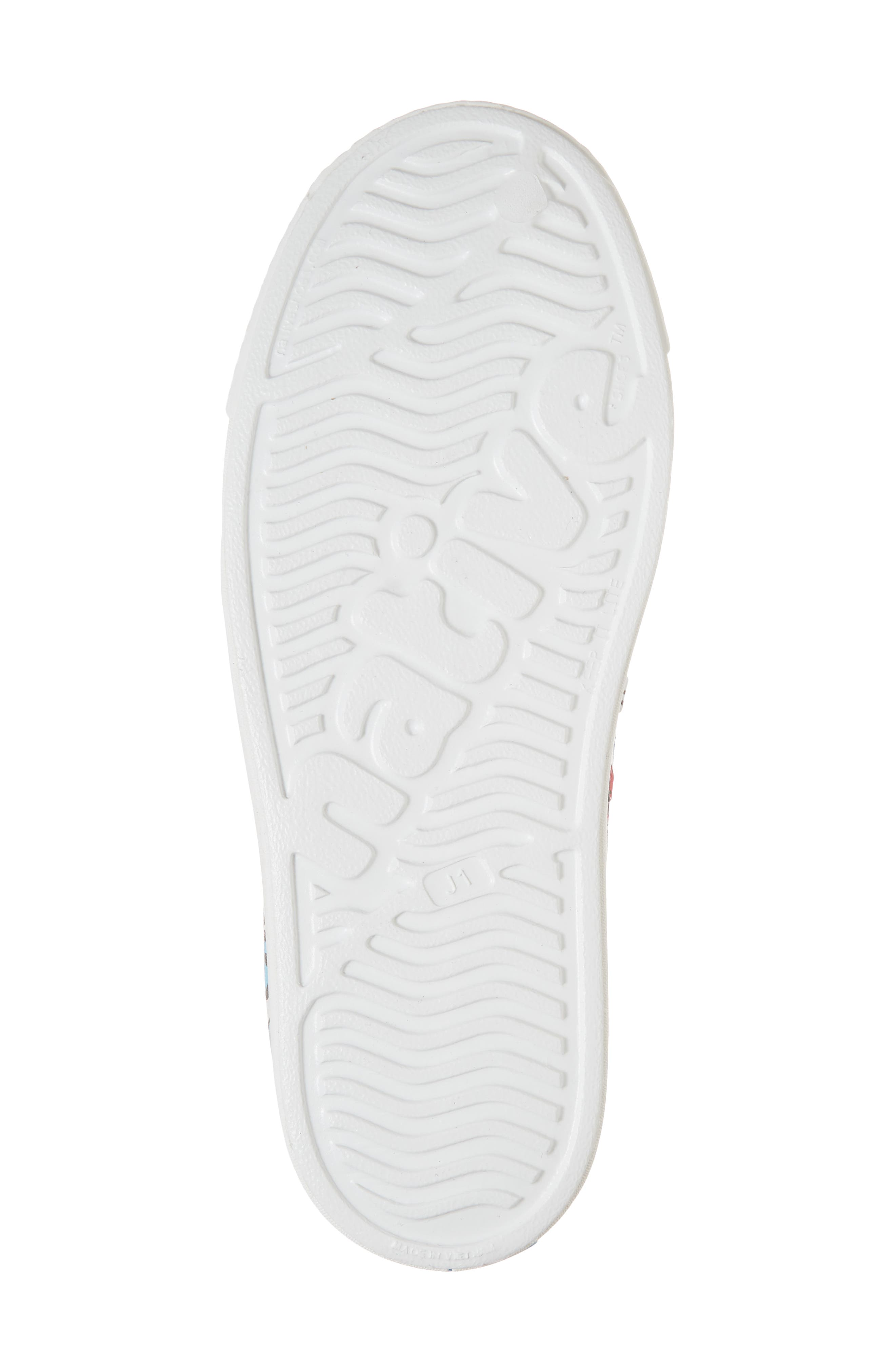 Jefferson Water Friendly Perforated Slip-On,                             Alternate thumbnail 6, color,                             Shell White/ Sticker