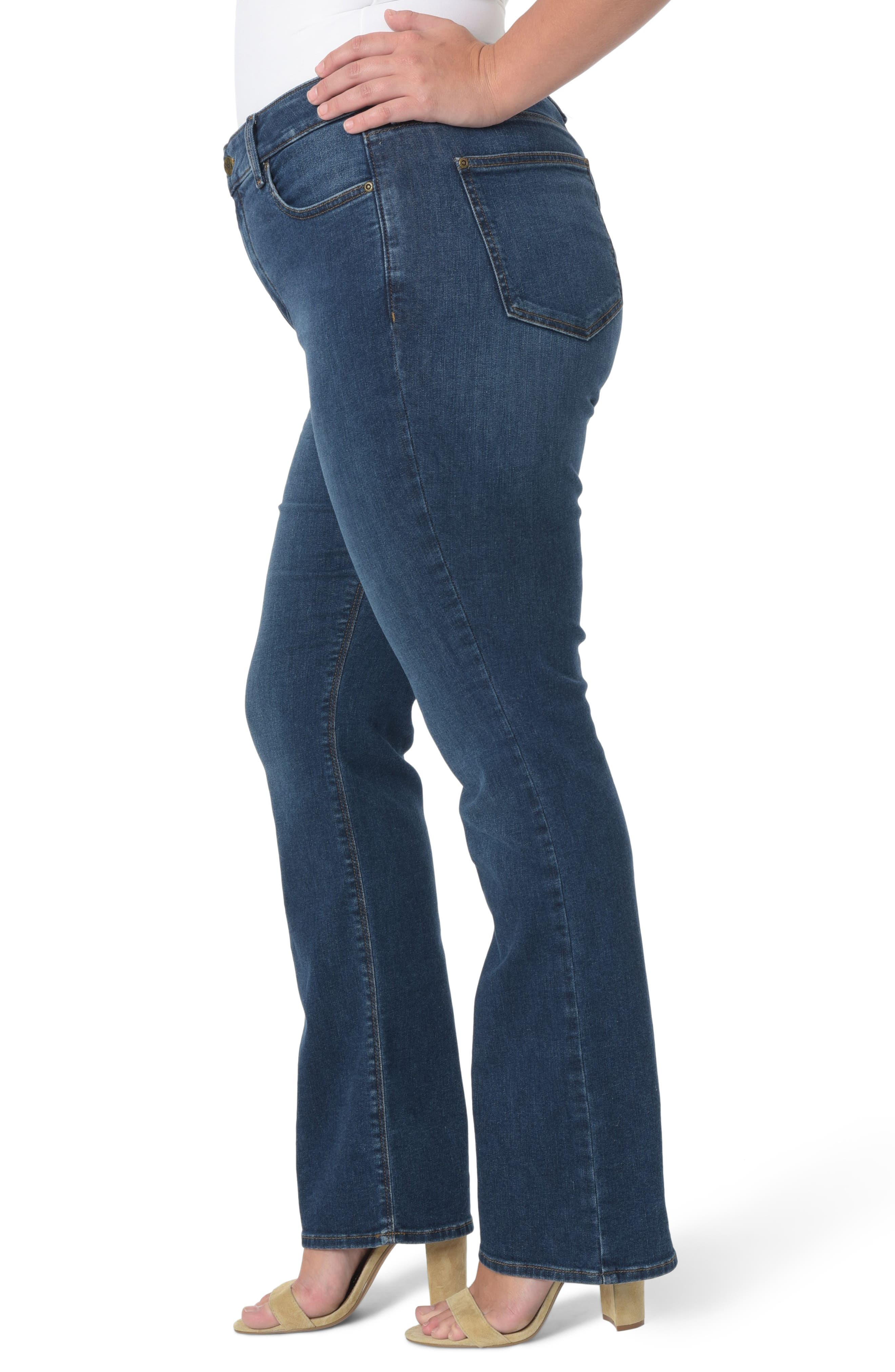 Barbara Stretch Bootcut Jeans,                             Alternate thumbnail 3, color,                             Cooper