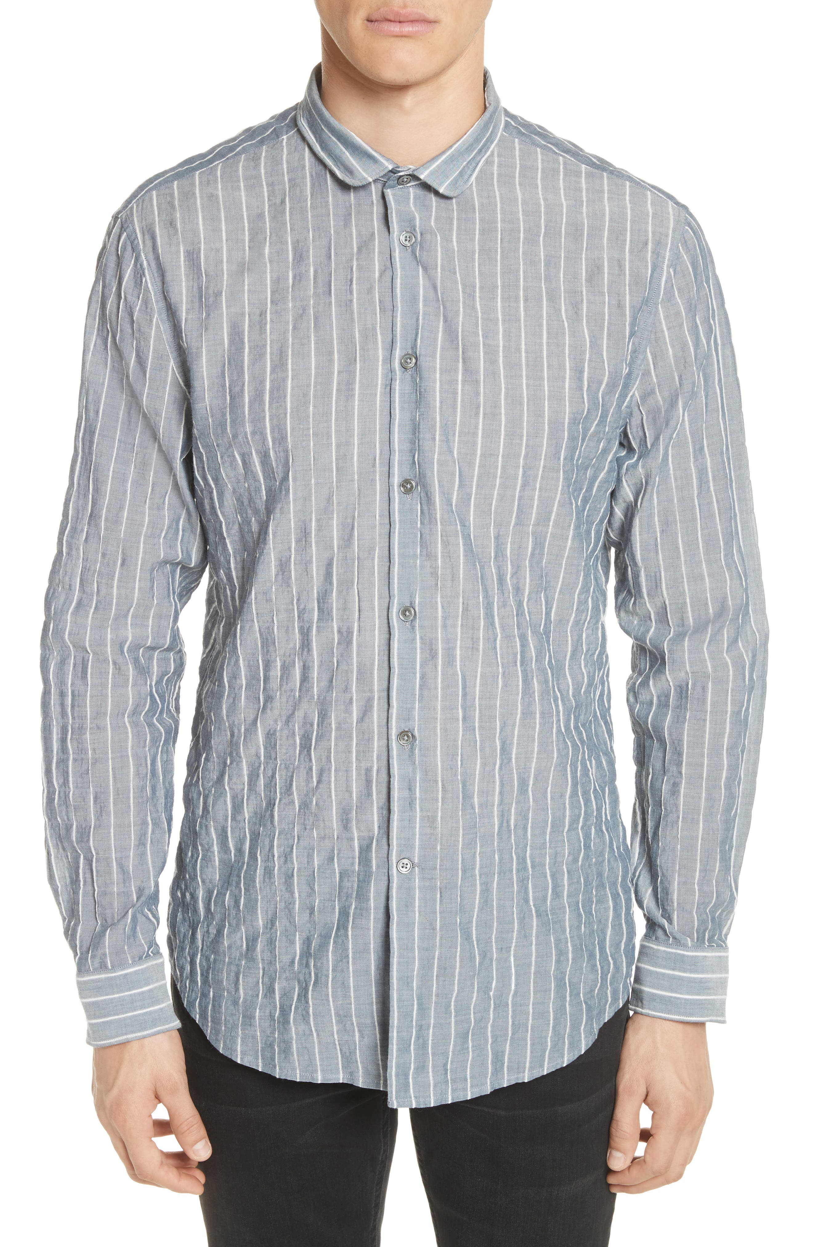Alternate Image 1 Selected - John Varvatos Collection Slim Fit Wire Collar Shirt