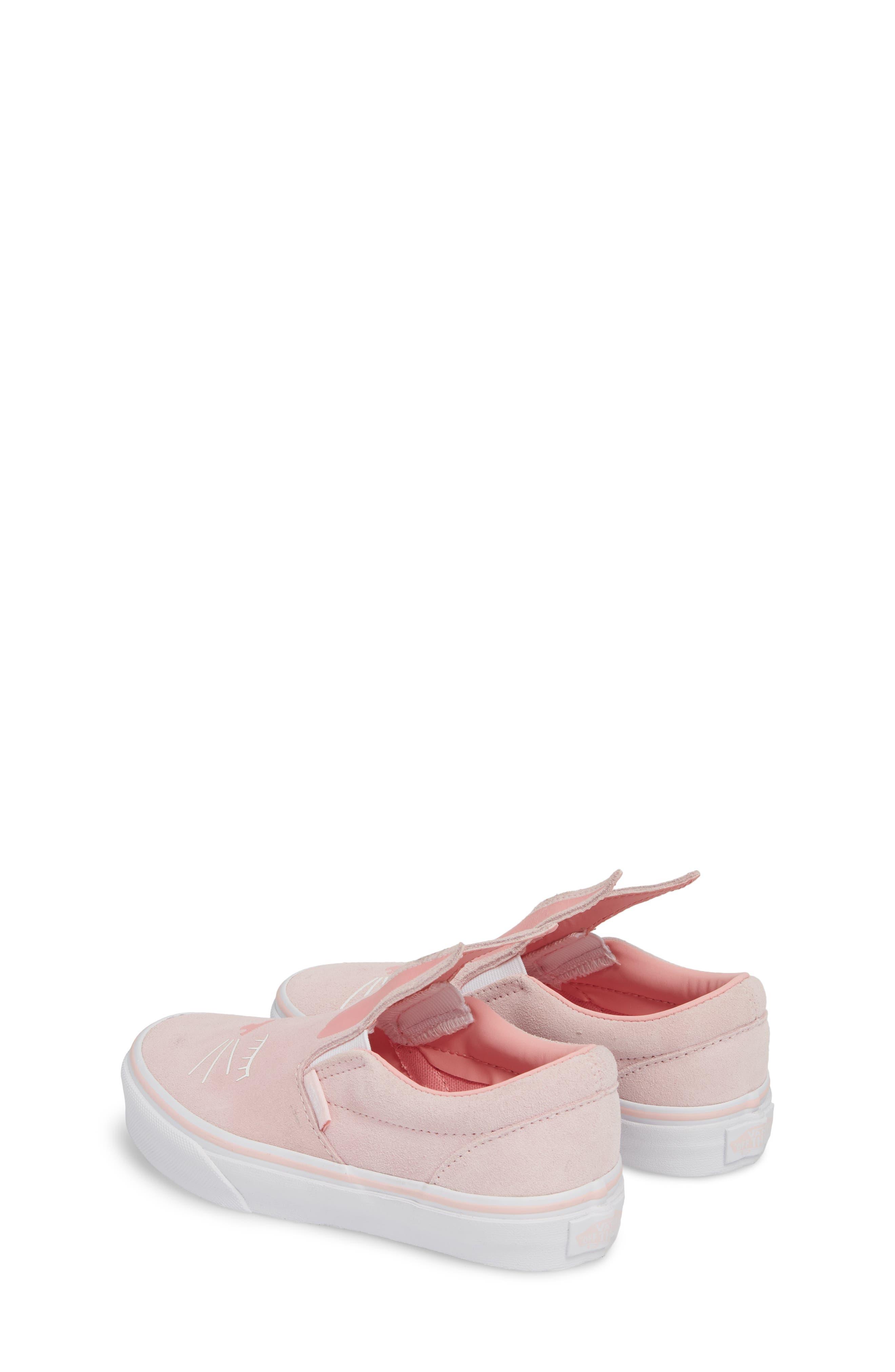 Slip-On Bunny Sneaker,                             Alternate thumbnail 2, color,                             Chalk Pink/ True White