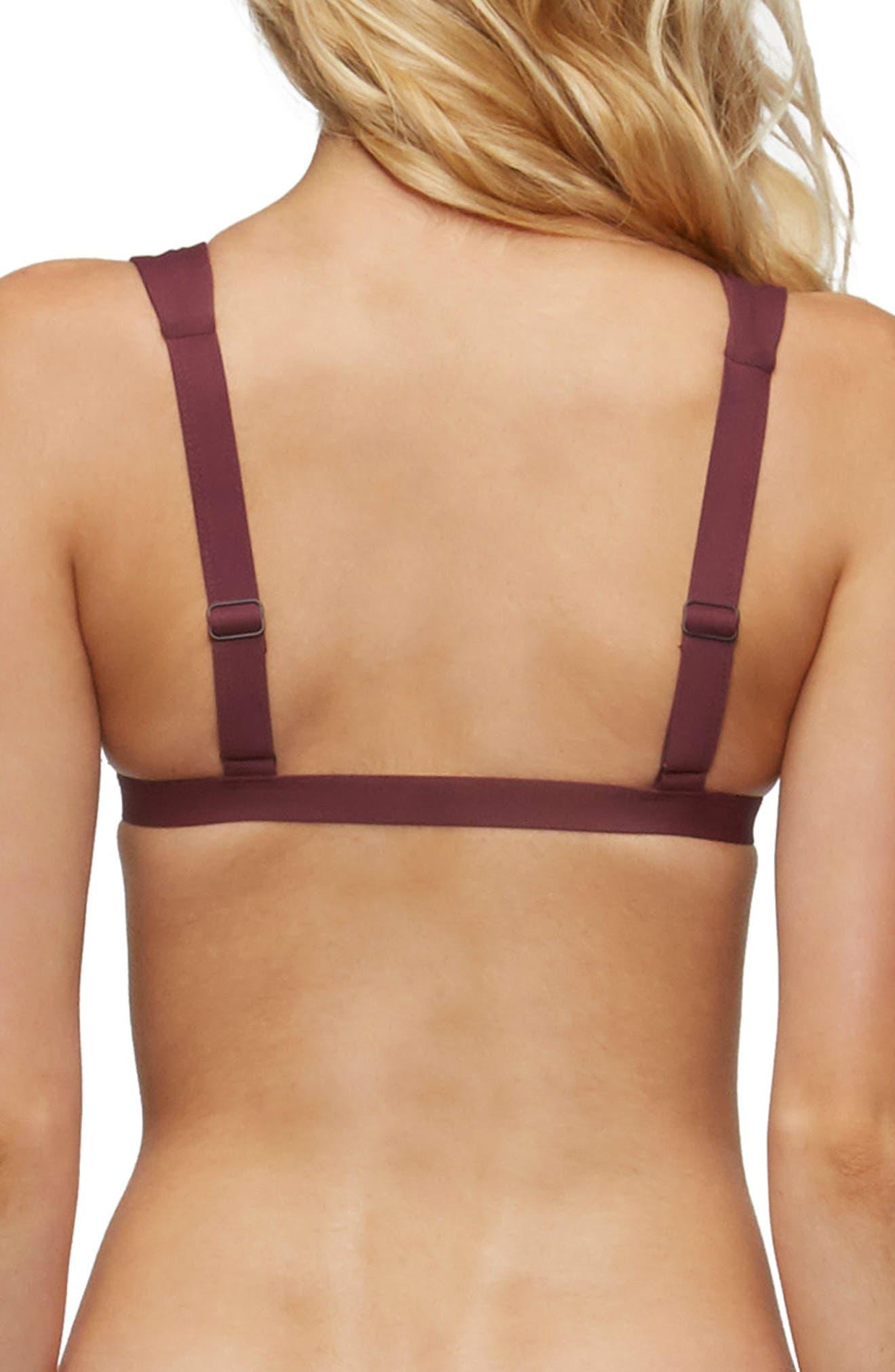 Caroline Bikini Top,                             Alternate thumbnail 2, color,                             Merlot
