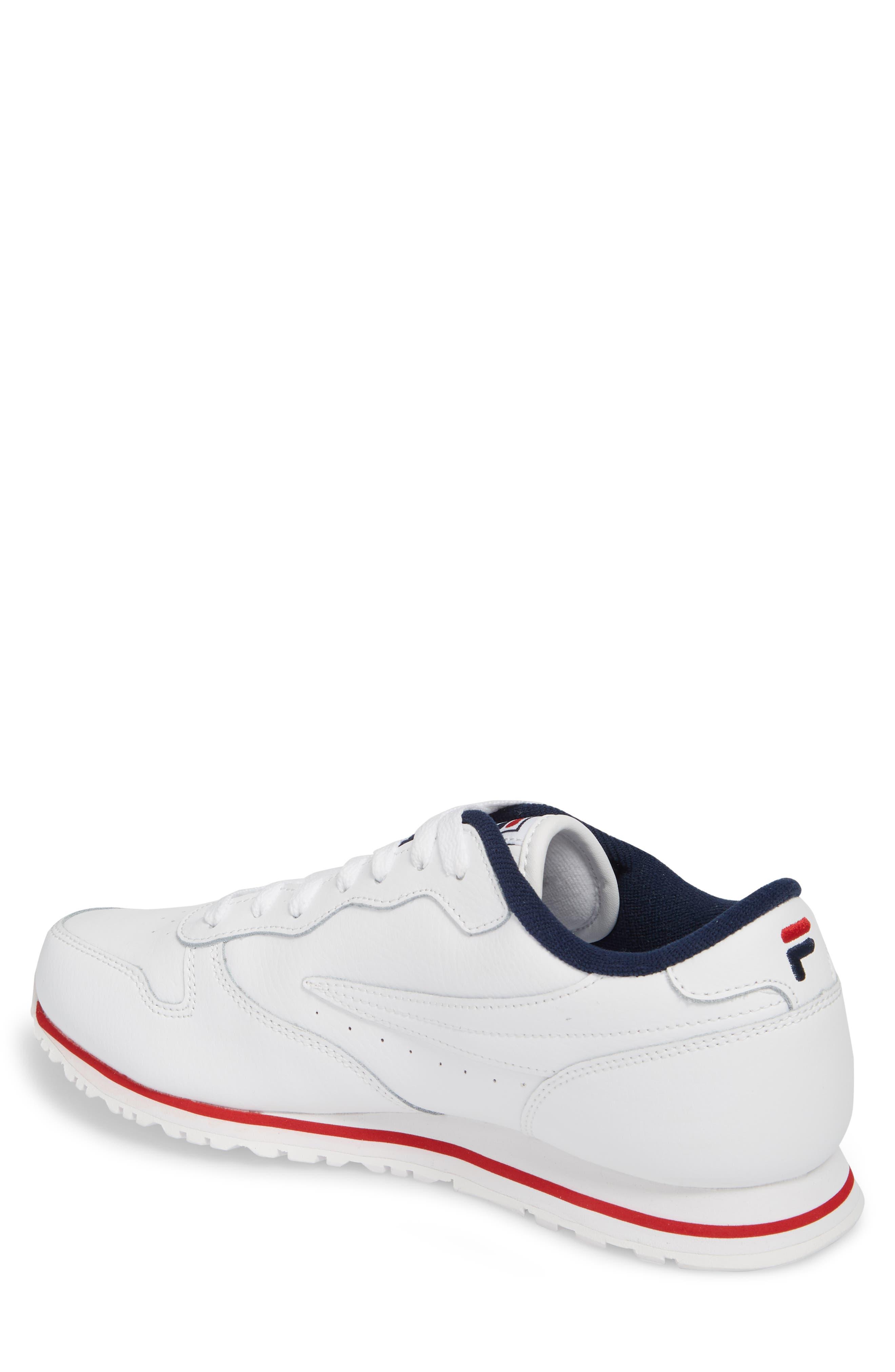 Euro Jogger Sneaker,                             Alternate thumbnail 2, color,                             White/ Navy/ Red