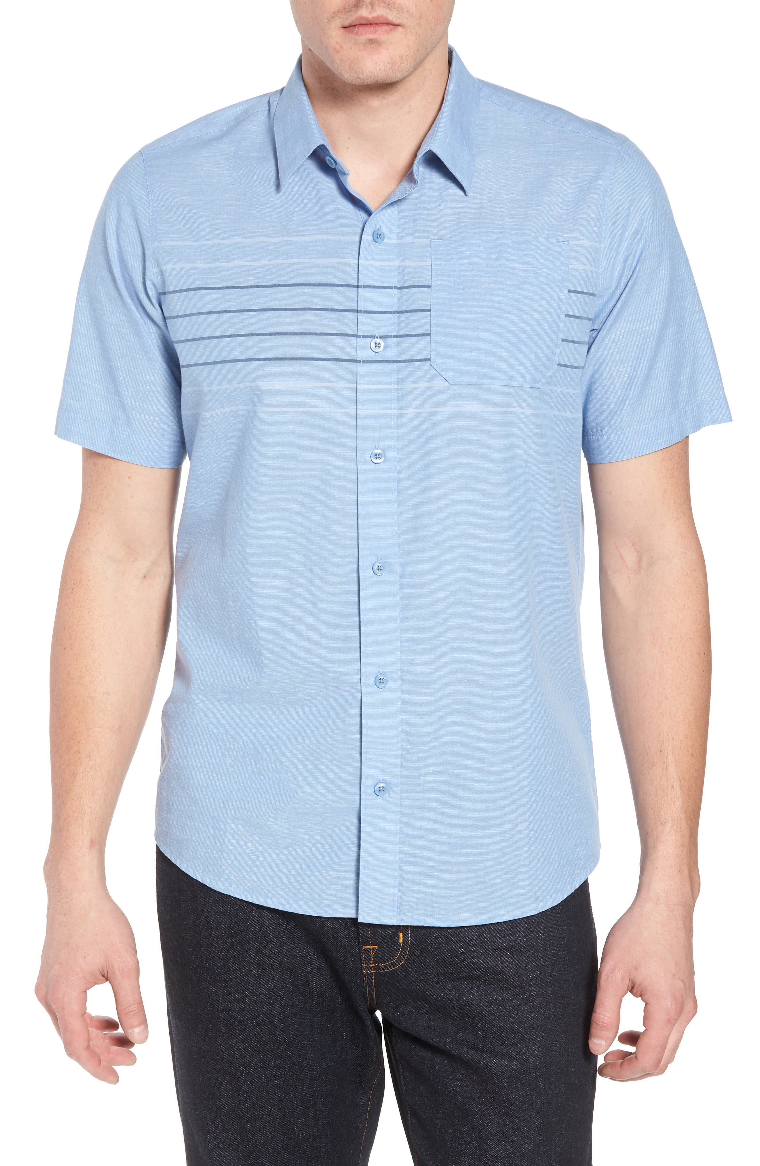 Canal Street Sport Shirt,                         Main,                         color, Heather Allure