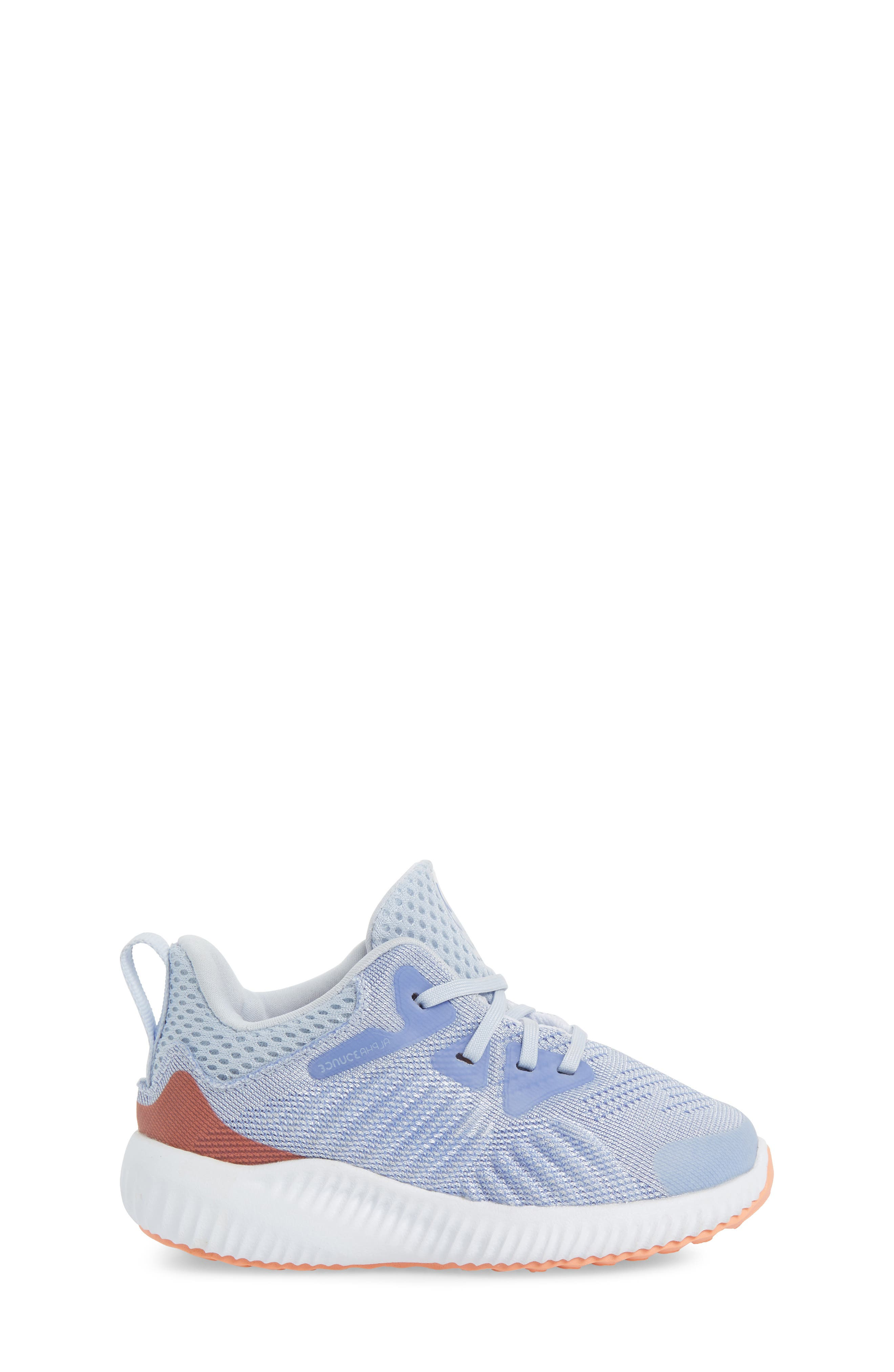 AlphaBounce Beyond Running Shoe,                             Alternate thumbnail 4, color,                             Blue/ Chalk Purple/ White