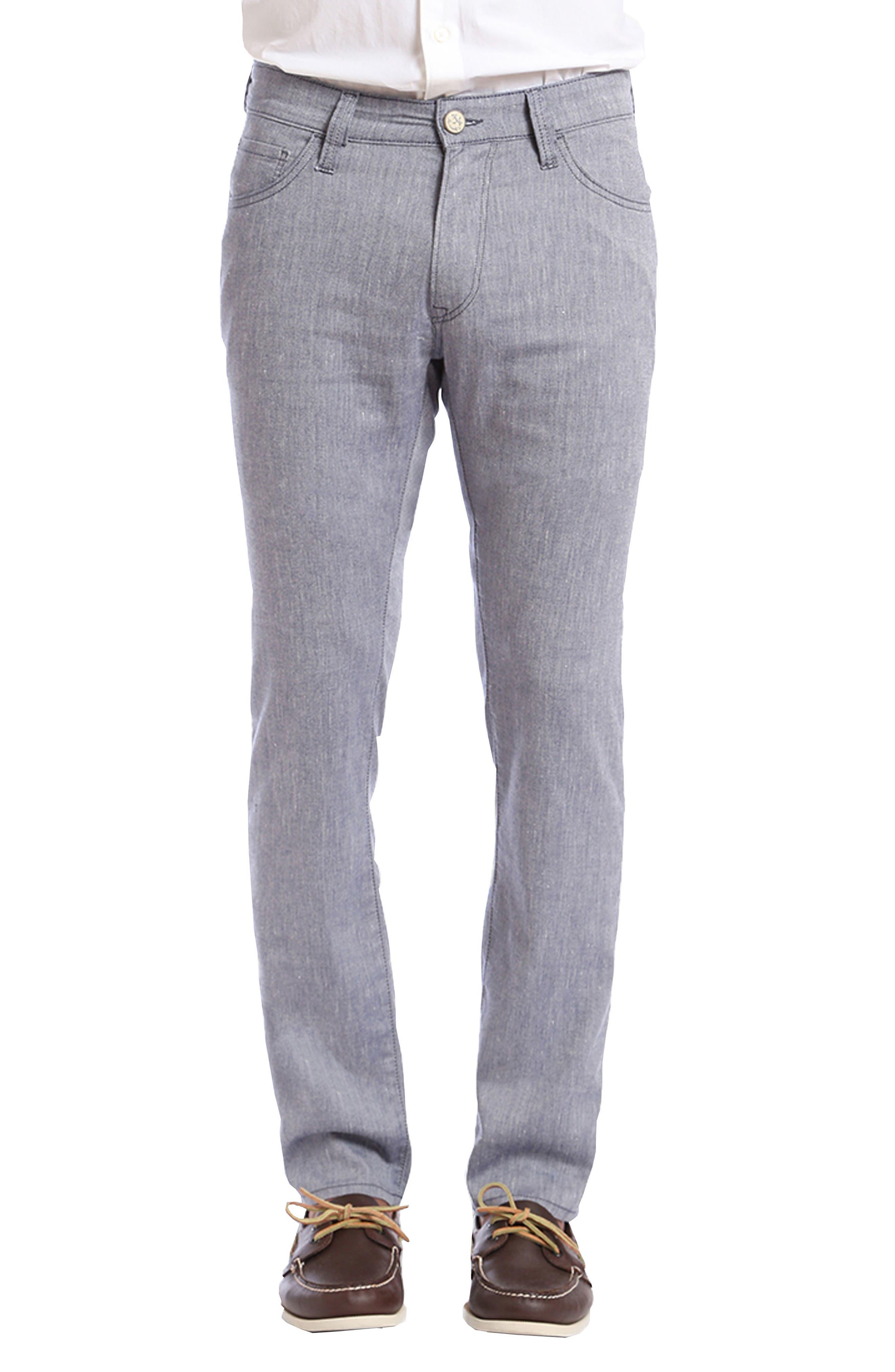 Courage Straight Leg Jeans,                         Main,                         color, Indigo Textured