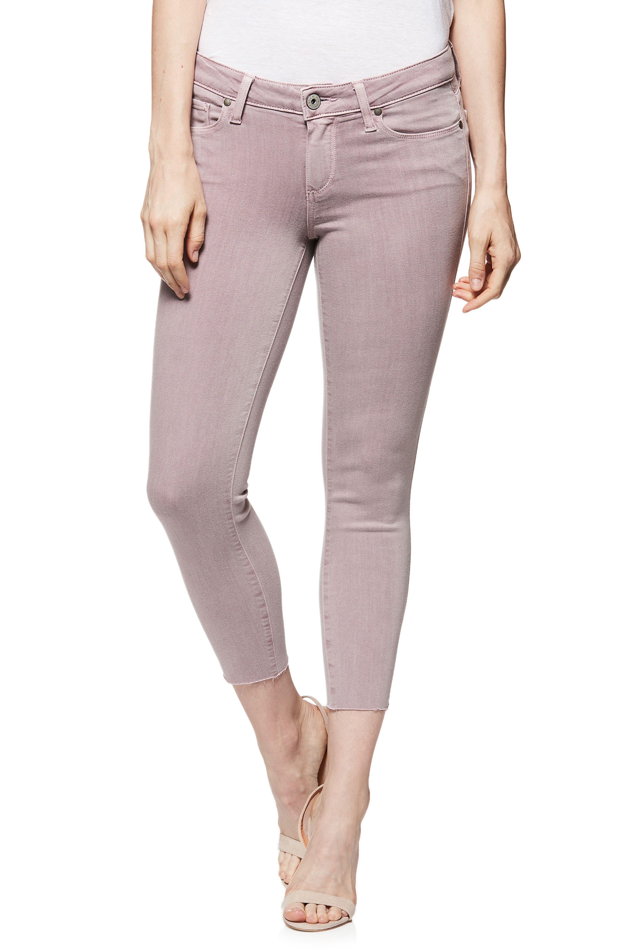 Transcend - Verdugo Raw Hem Crop Skinny Jeans,                             Main thumbnail 1, color,                             Vintage Lavendar Blooms