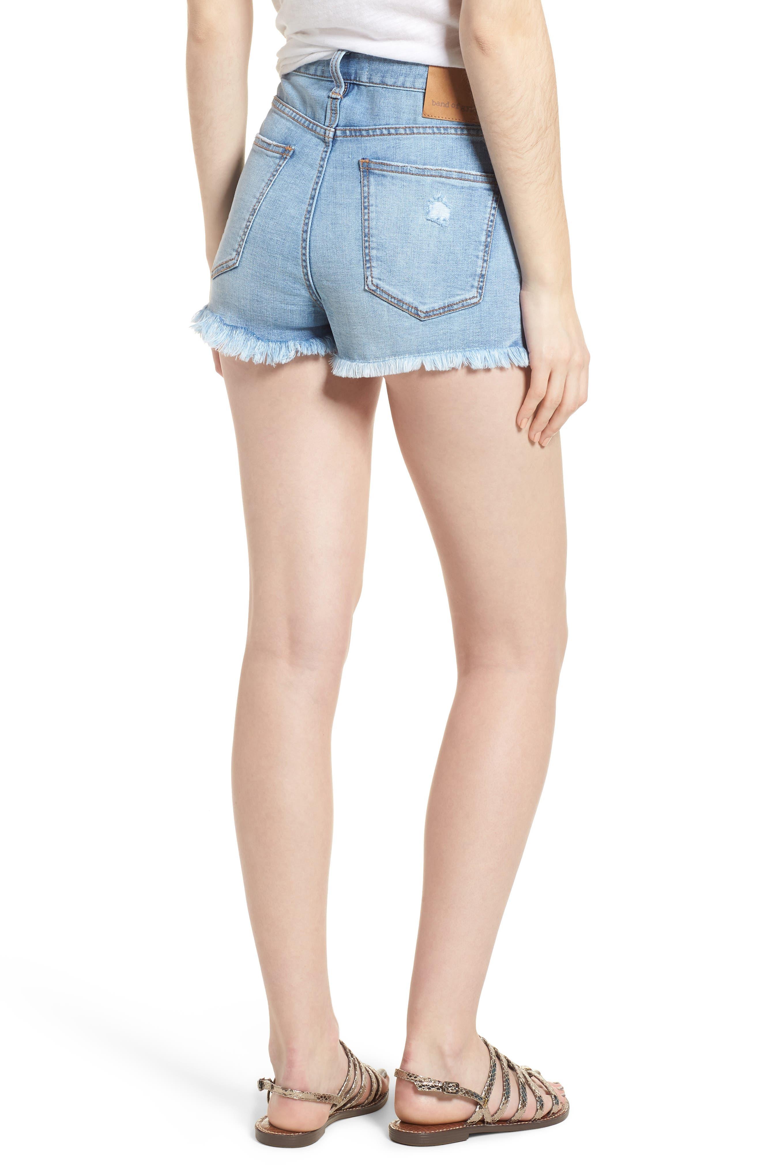 Zoey Denim Shorts,                             Alternate thumbnail 2, color,                             Dustbowl
