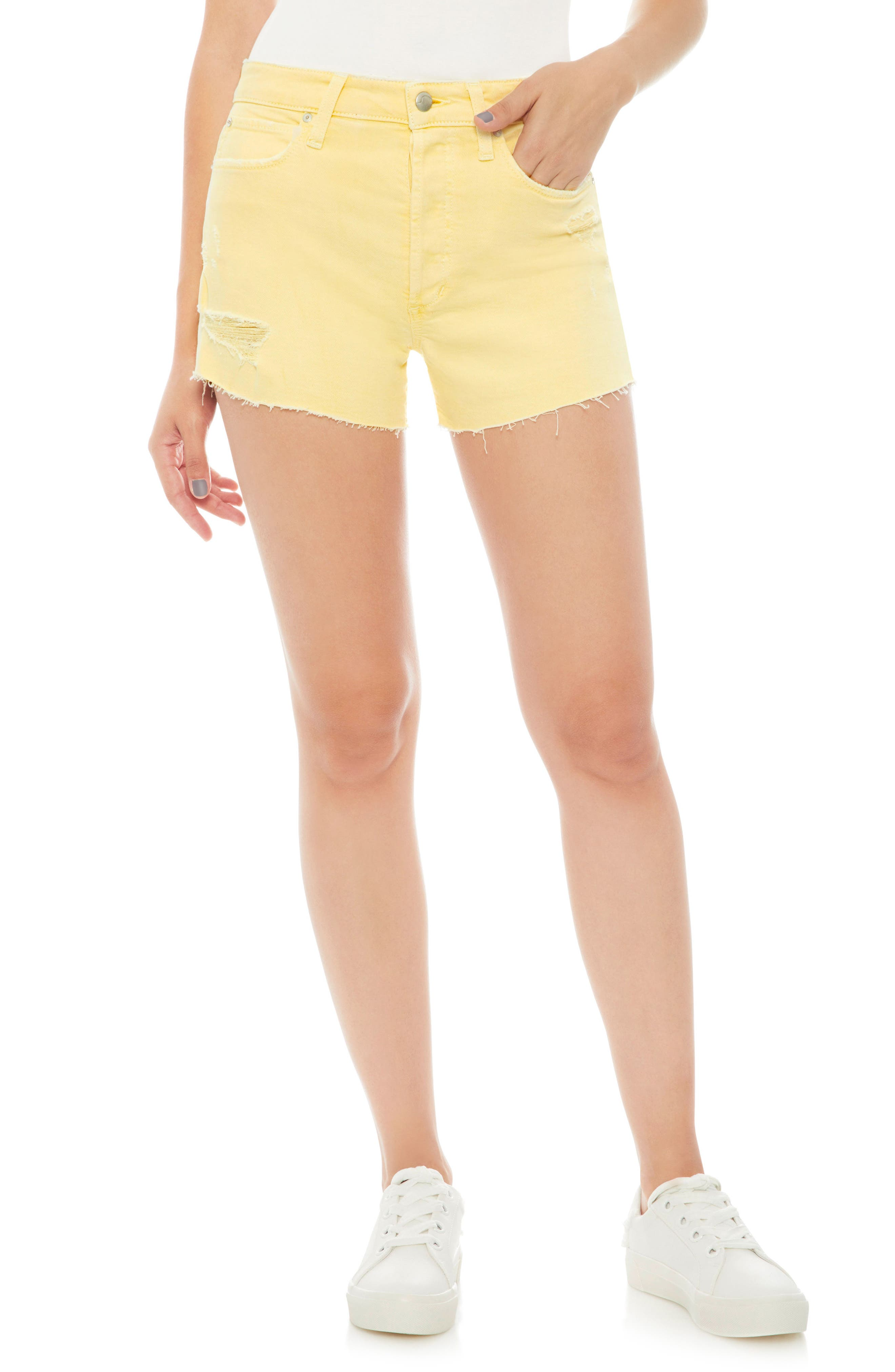 Smith High Waist Shorts,                         Main,                         color, Impala