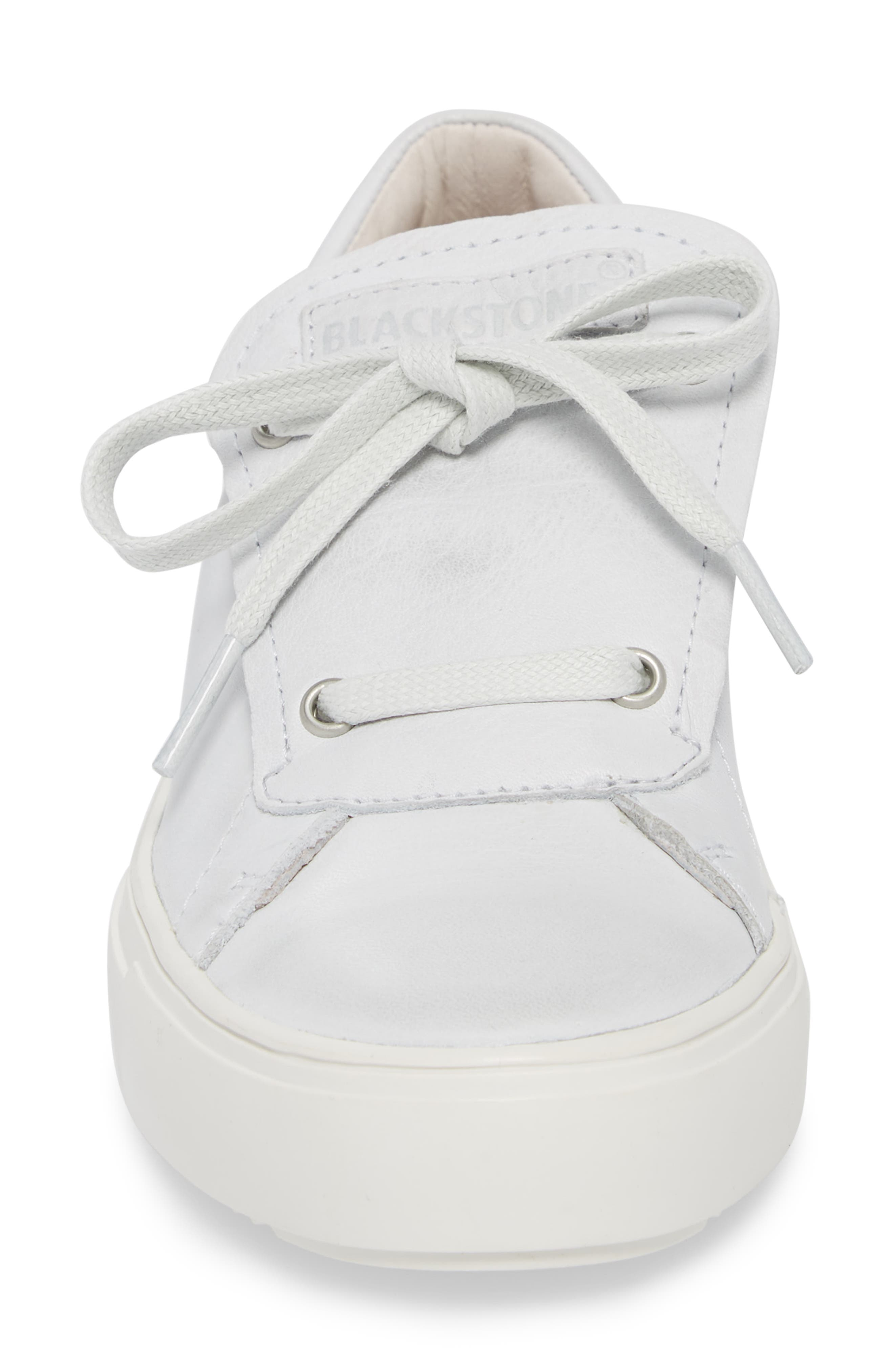PL72 External Tongue Sneaker,                             Alternate thumbnail 5, color,                             White Leather