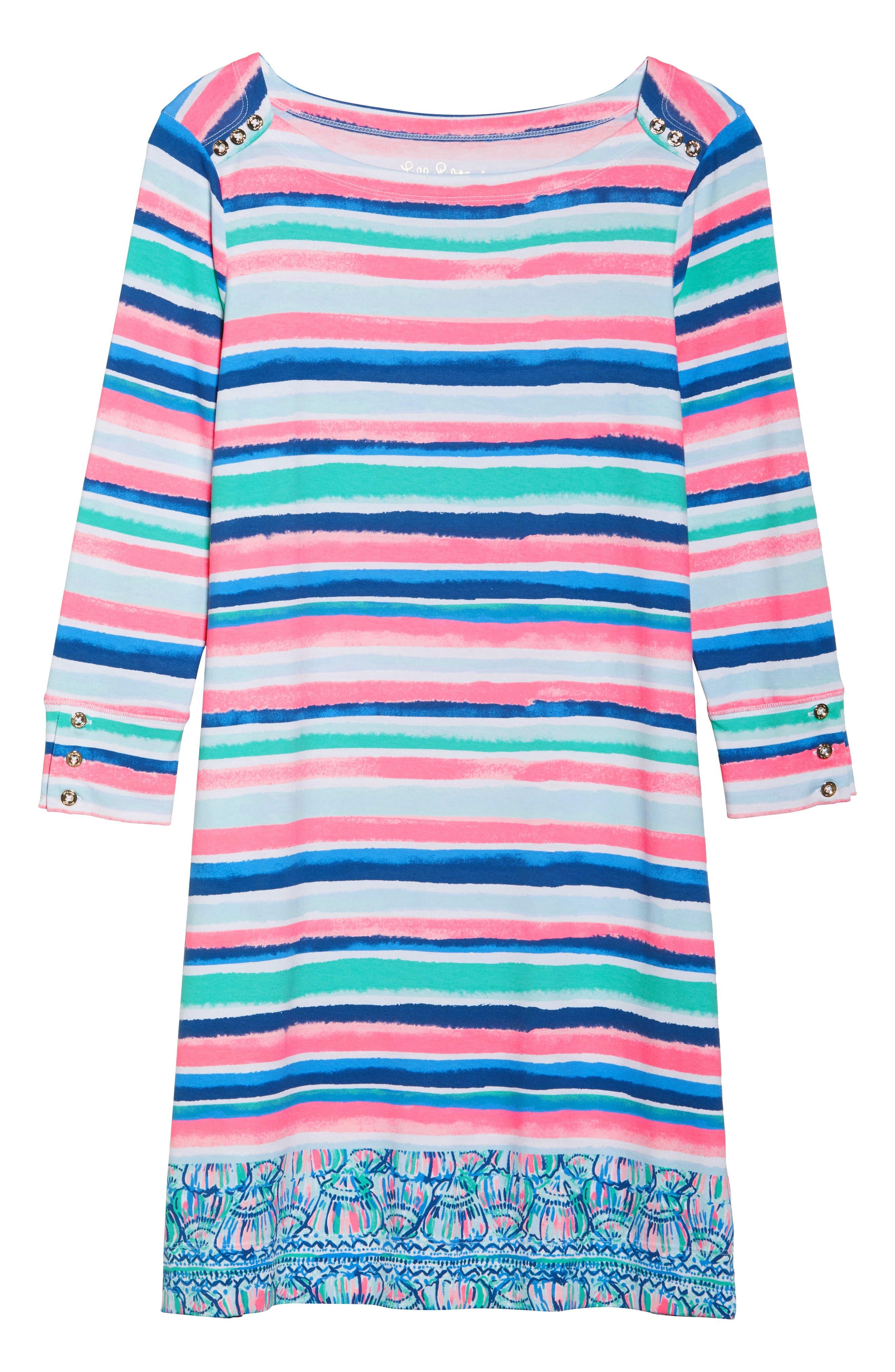 Sophie UPF 50+ Dress,                             Alternate thumbnail 7, color,                             Multi Sandy Shell Stripe