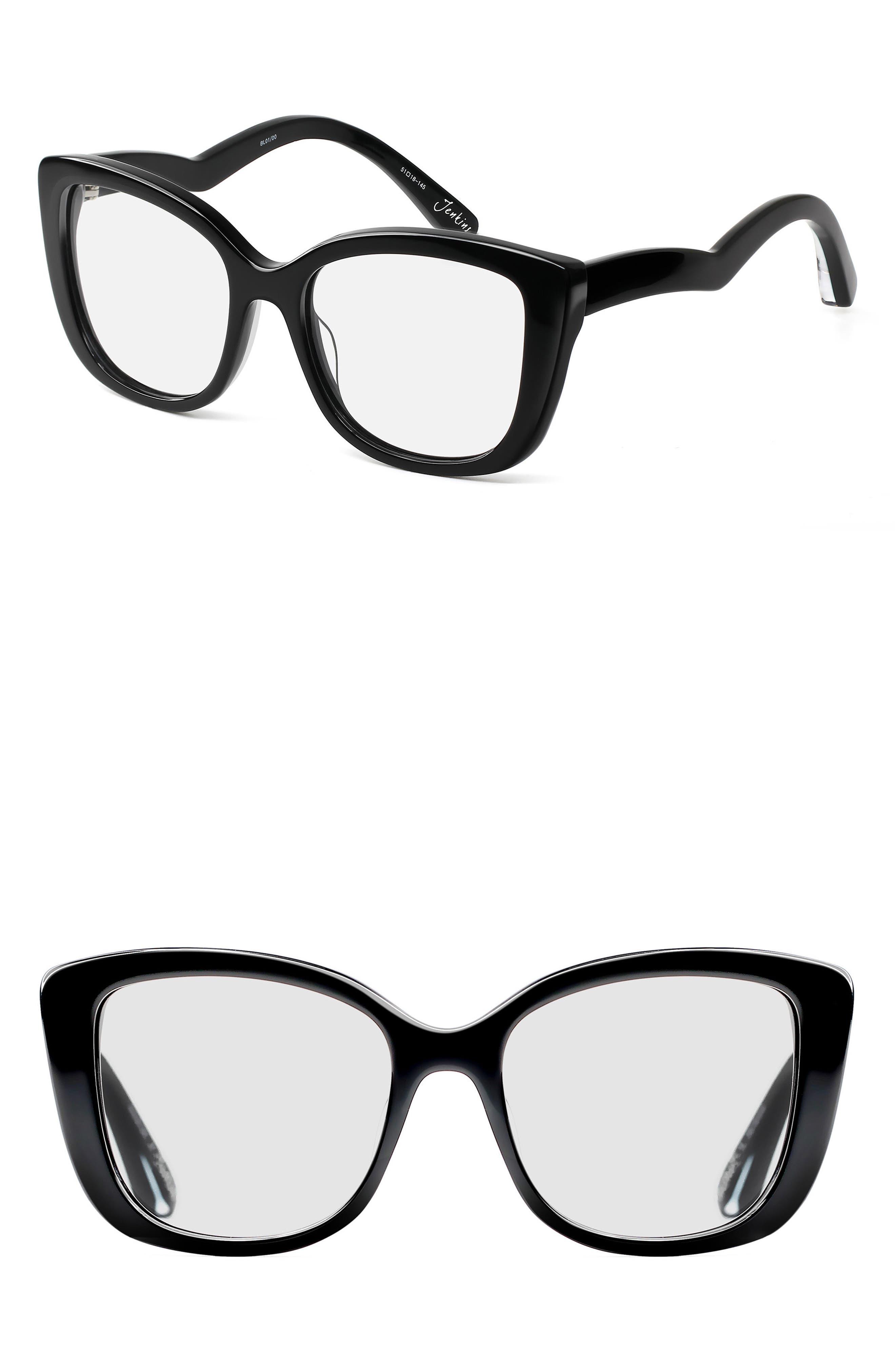 Jenkins 51mm Optical Frames,                             Main thumbnail 1, color,                             Black