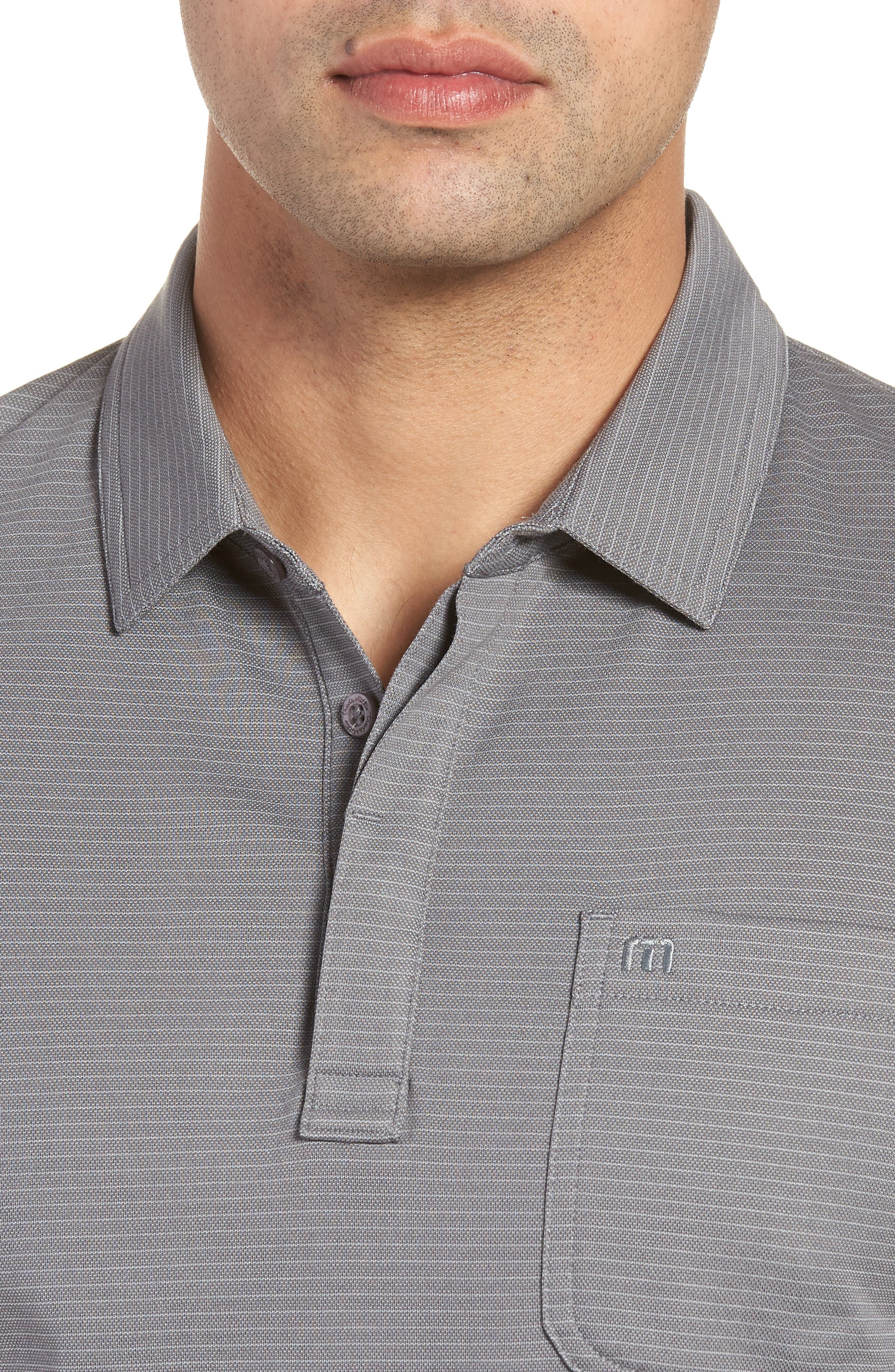 Watty Stripe Cotton Blend Polo,                             Alternate thumbnail 4, color,                             Quiet Shade