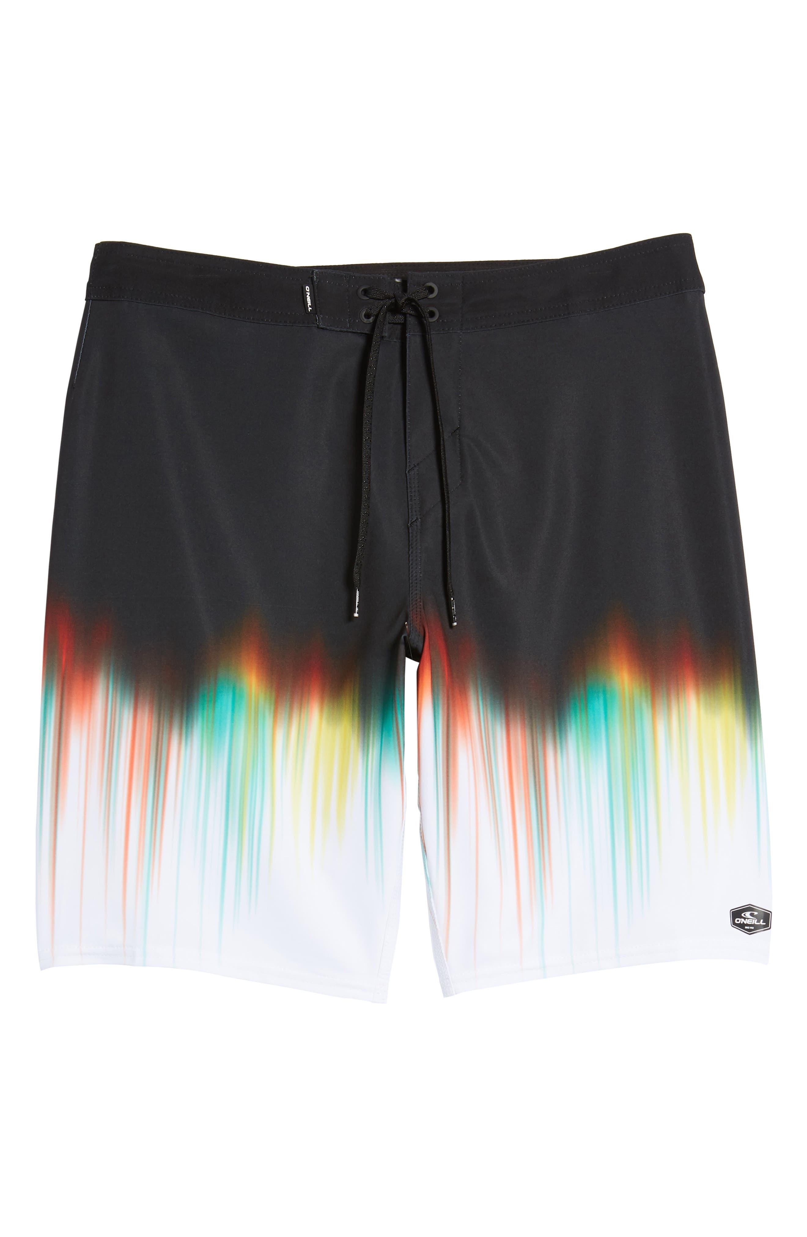 Hyperfreak Drippin' Board Shorts,                             Alternate thumbnail 6, color,                             Black