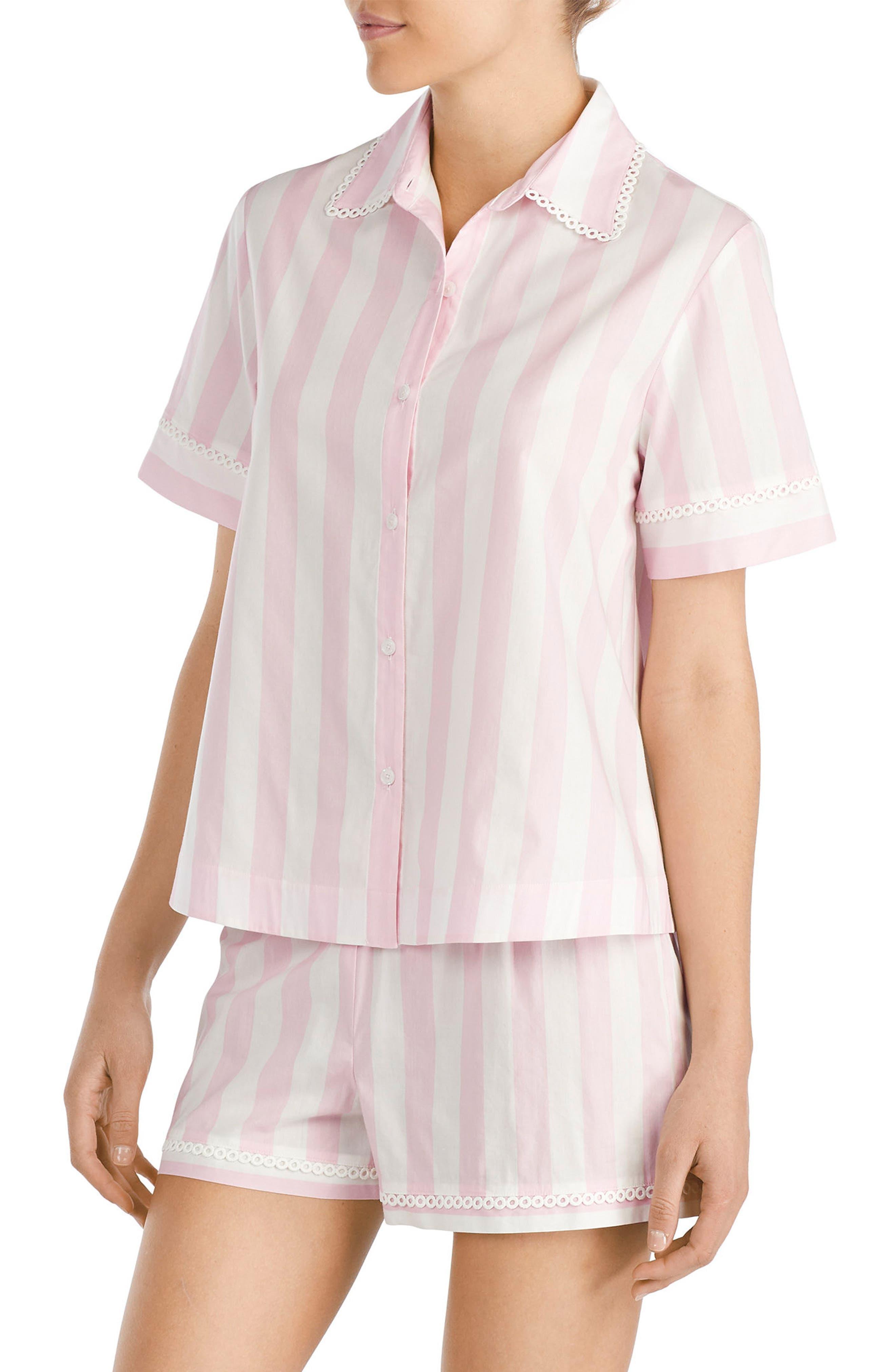 short pajamas,                             Alternate thumbnail 3, color,                             Bay Stripe