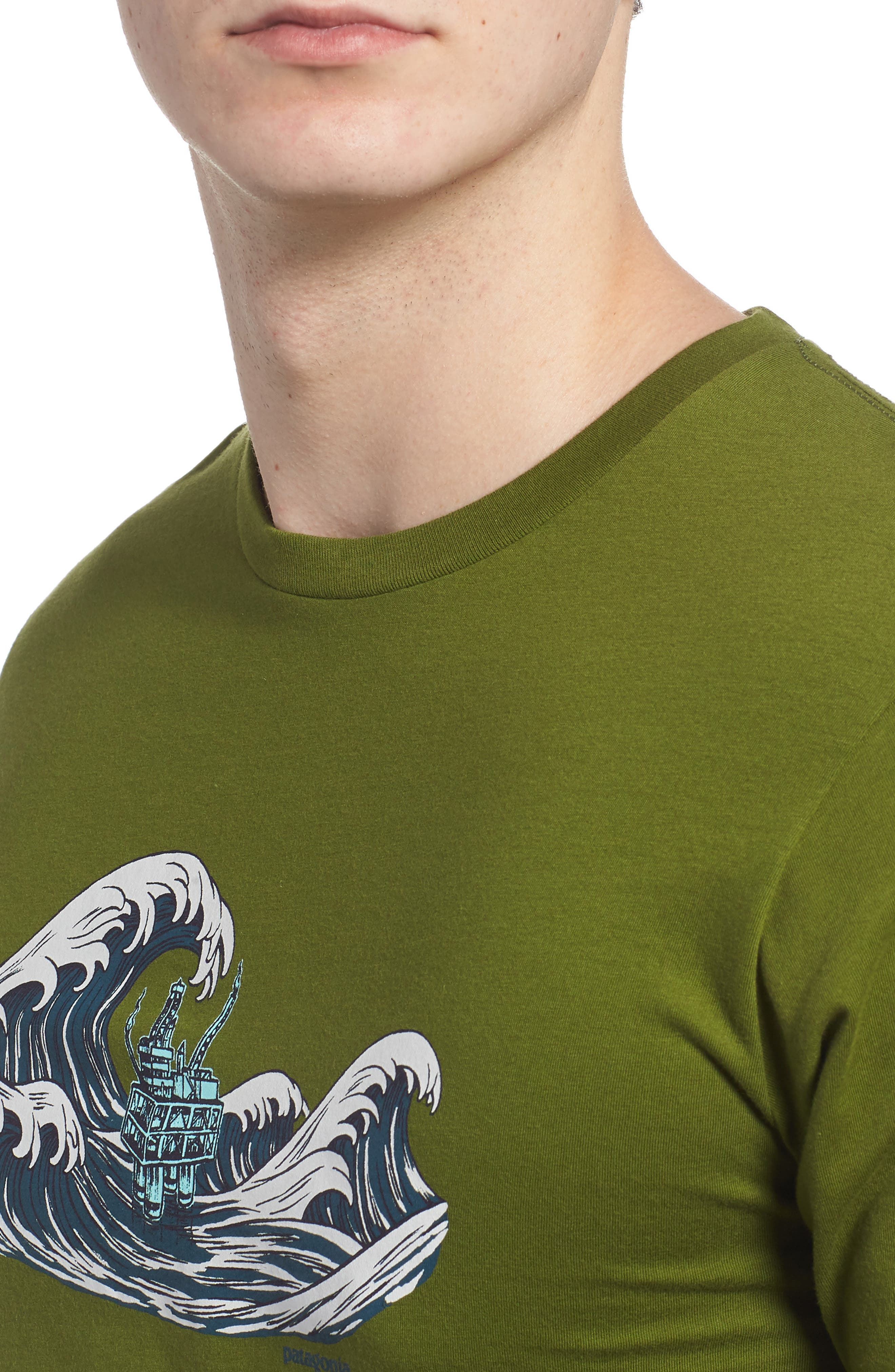 Oily Olas Slim Fit Organic Cotton T-Shirt,                             Alternate thumbnail 4, color,                             Sprouted Green
