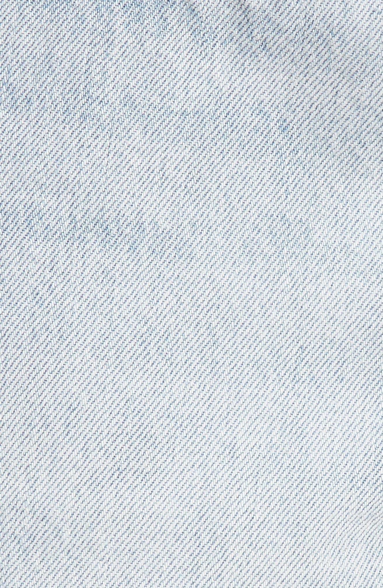 501<sup>®</sup> Cutoff Denim Shorts,                             Alternate thumbnail 5, color,                             Bleached Authentic
