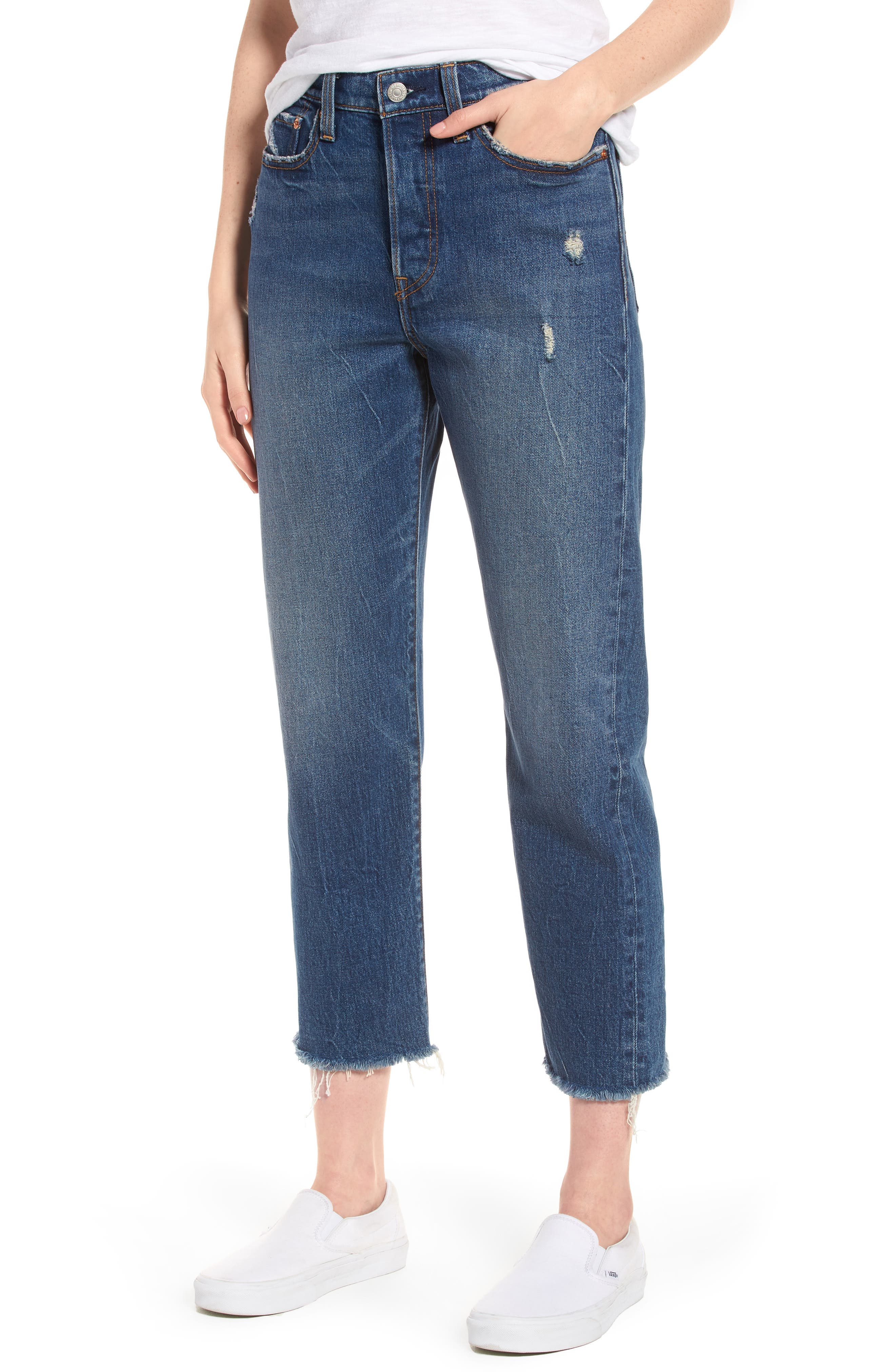 Levi's® Wedgie High Waist Straight Jeans (Lasting Impression)