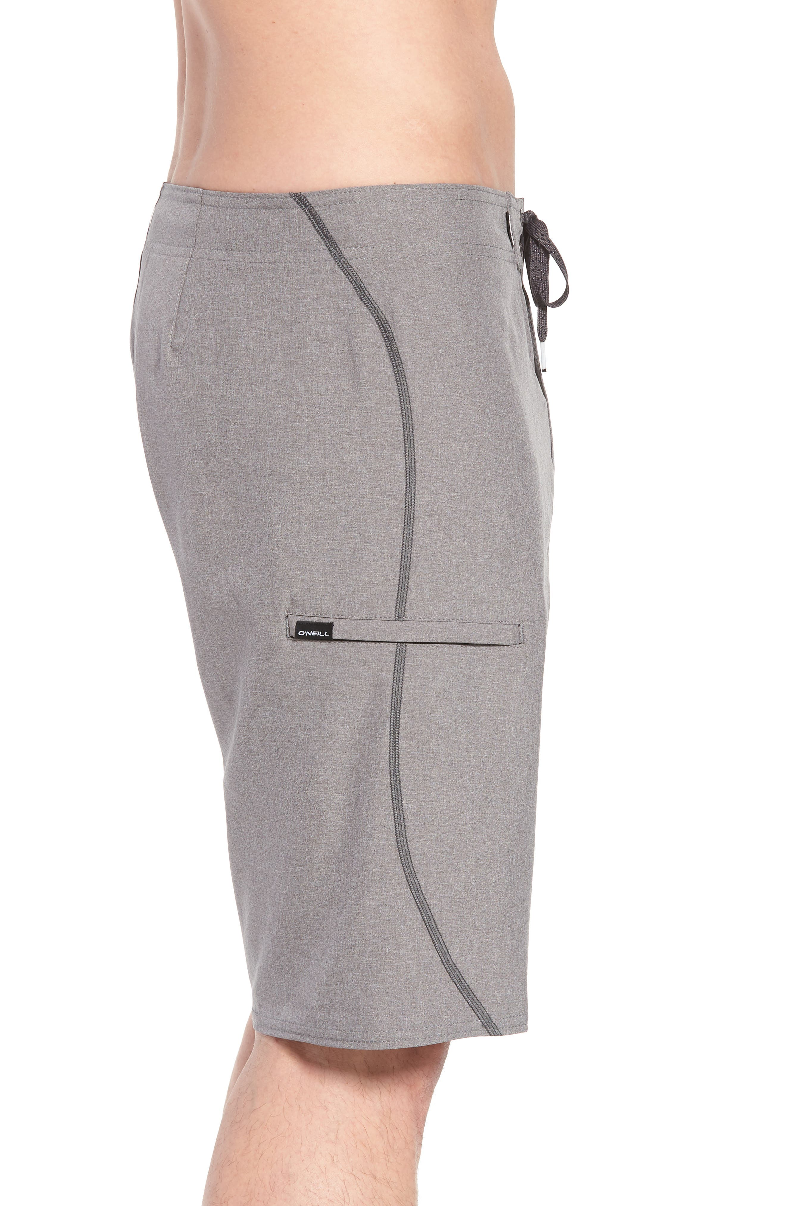 Hyperfreak S-Seam Board Shorts,                             Alternate thumbnail 4, color,                             Heather Grey