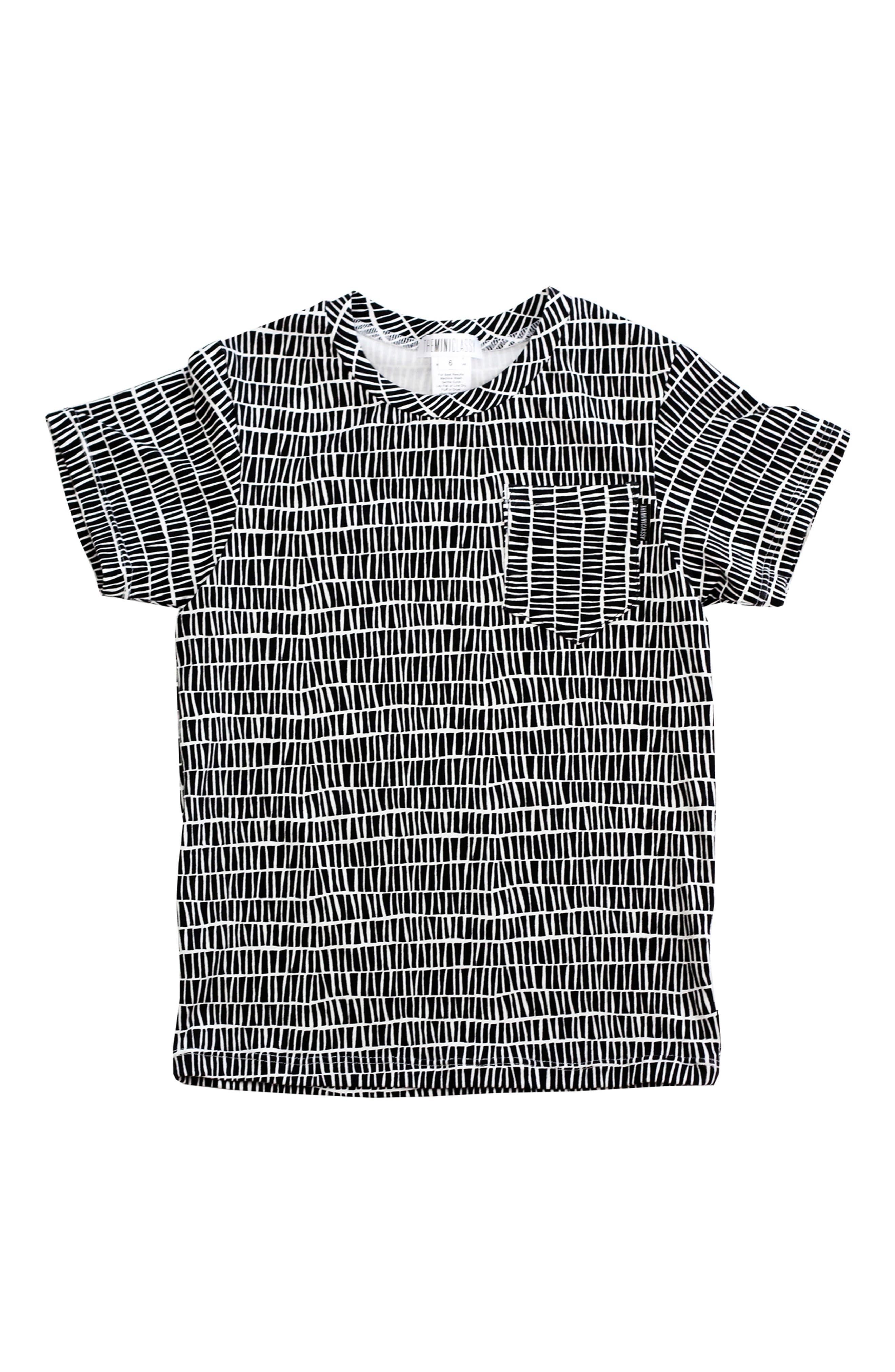 The Stix T-Shirt,                             Main thumbnail 1, color,                             Black/ White
