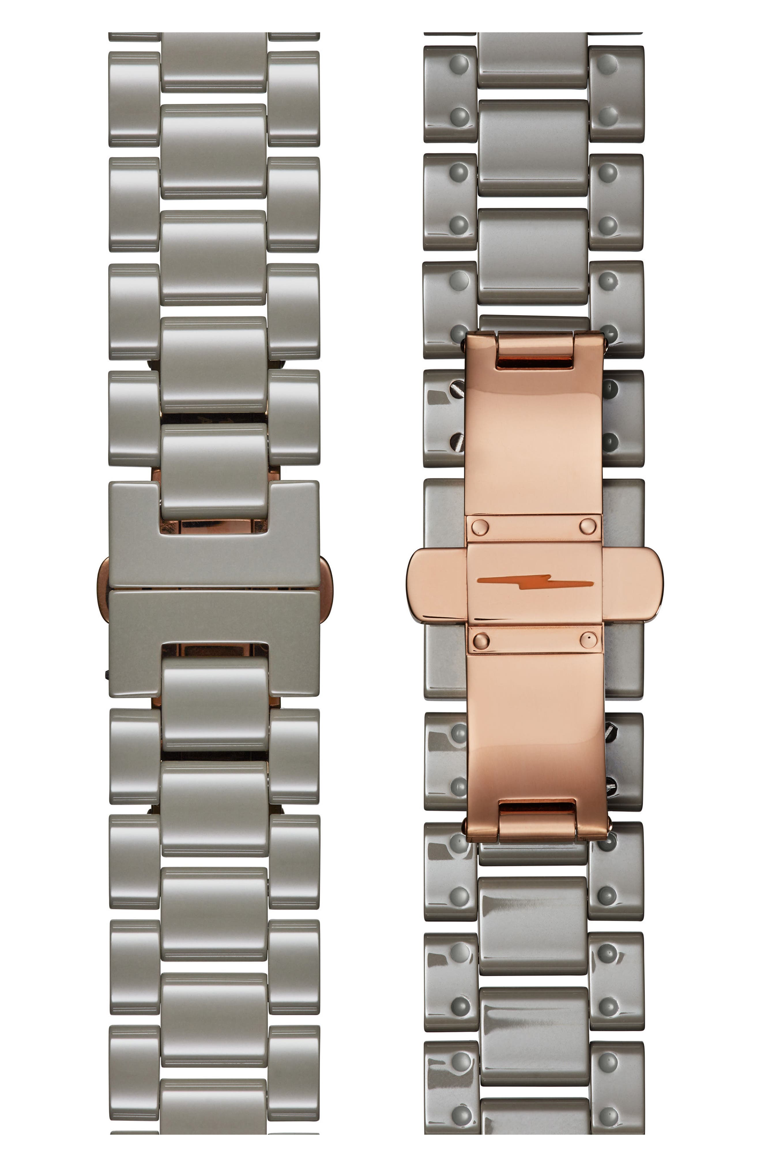 The Canfield Chrono Bracelet Watch, 40mm,                             Alternate thumbnail 4, color,                             Grey/ White/ Rose Gold