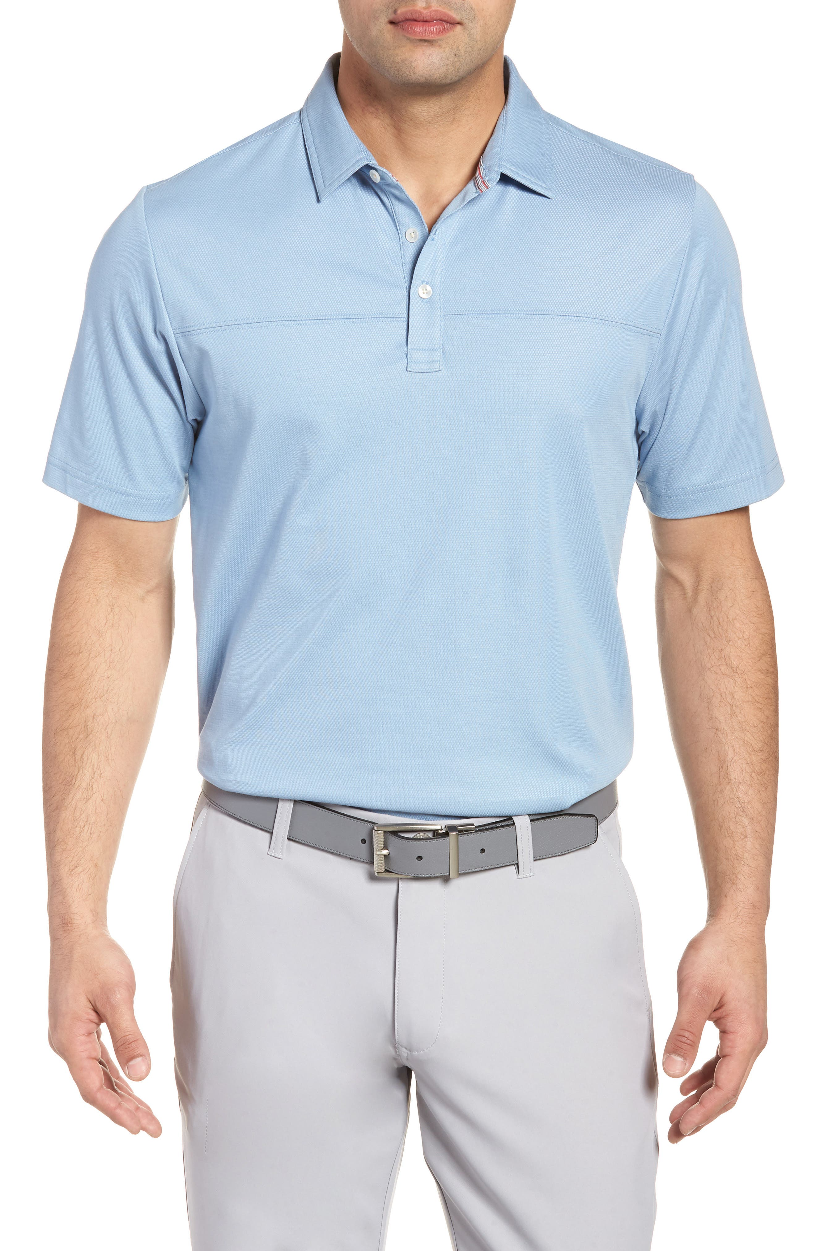 Brun Regular Fit Piqué Polo,                         Main,                         color, Allure/ Micro Chip