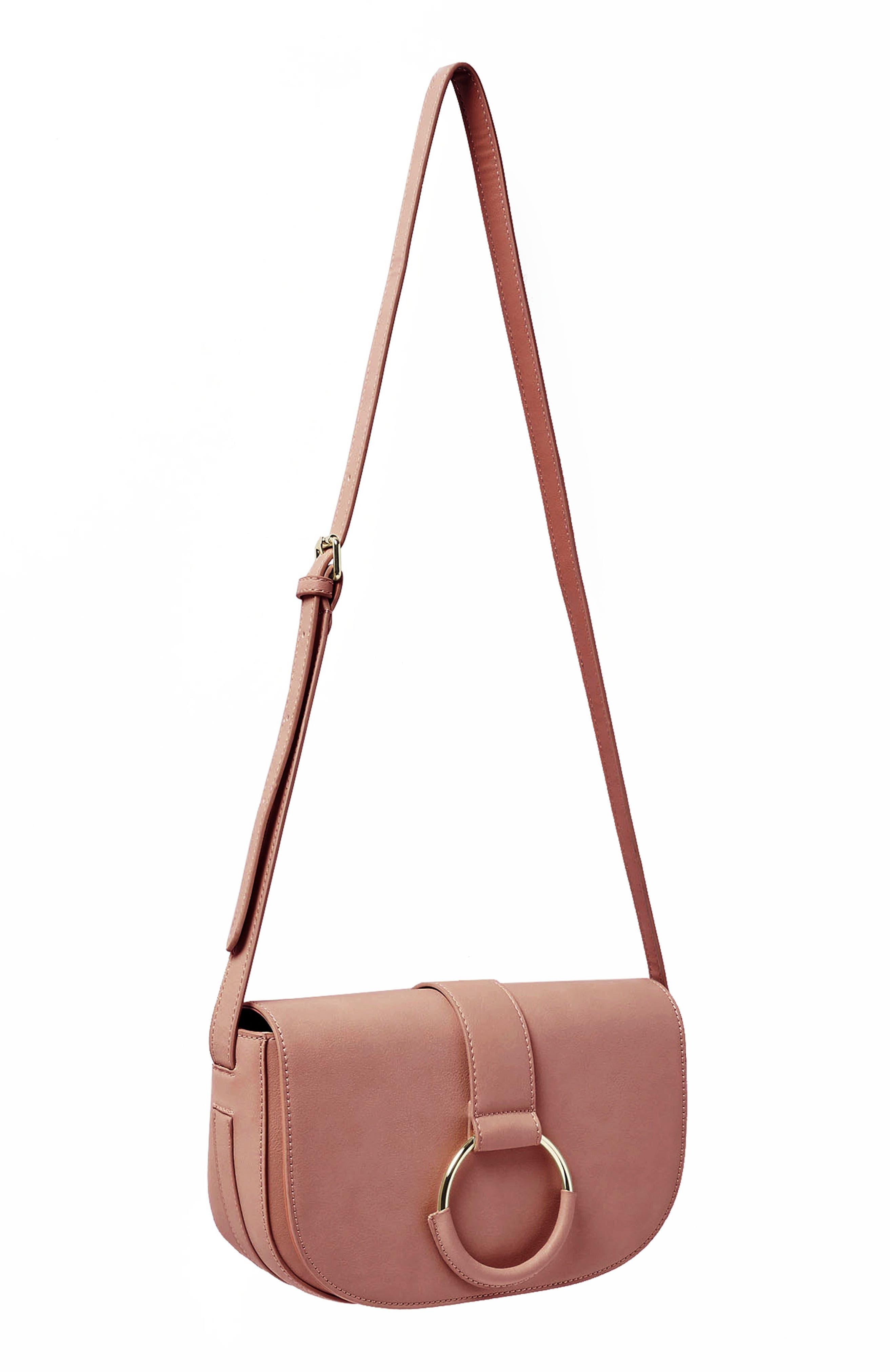 Lolita Vegan Leather Crossbody Bag,                             Alternate thumbnail 2, color,                             Pink