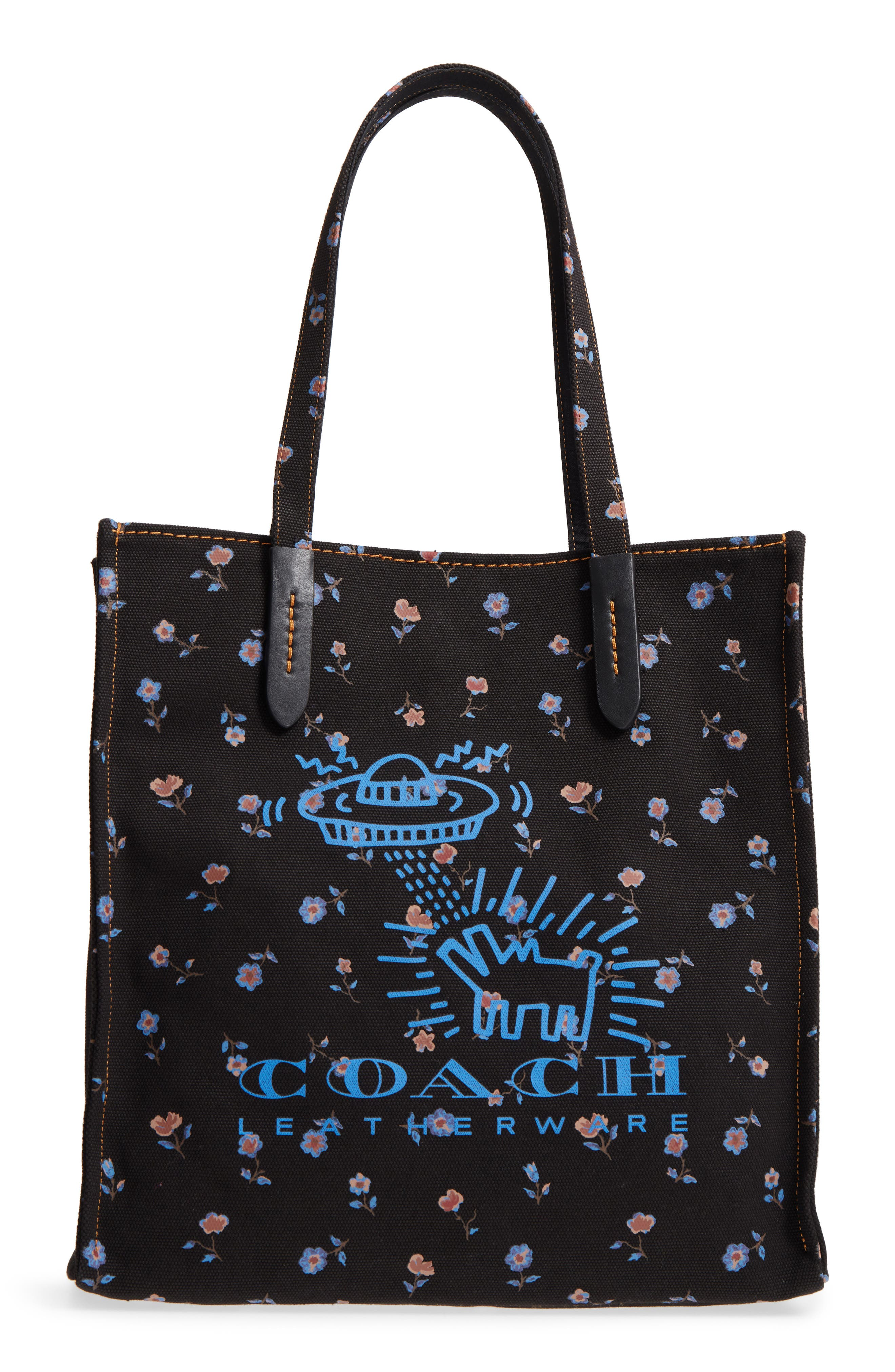 COACH x Keith Haring UFO Dog Canvas Tote