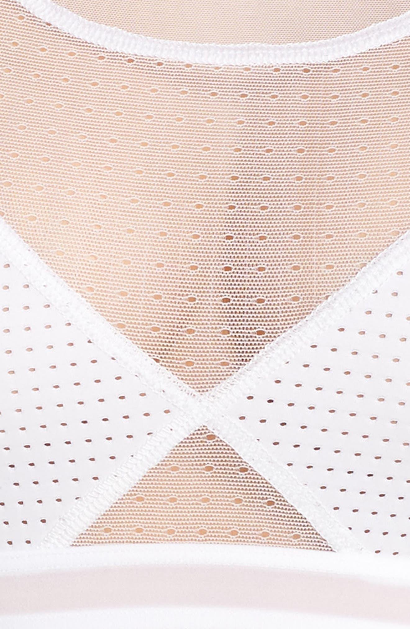 Mesh Bralette,                             Alternate thumbnail 9, color,                             White