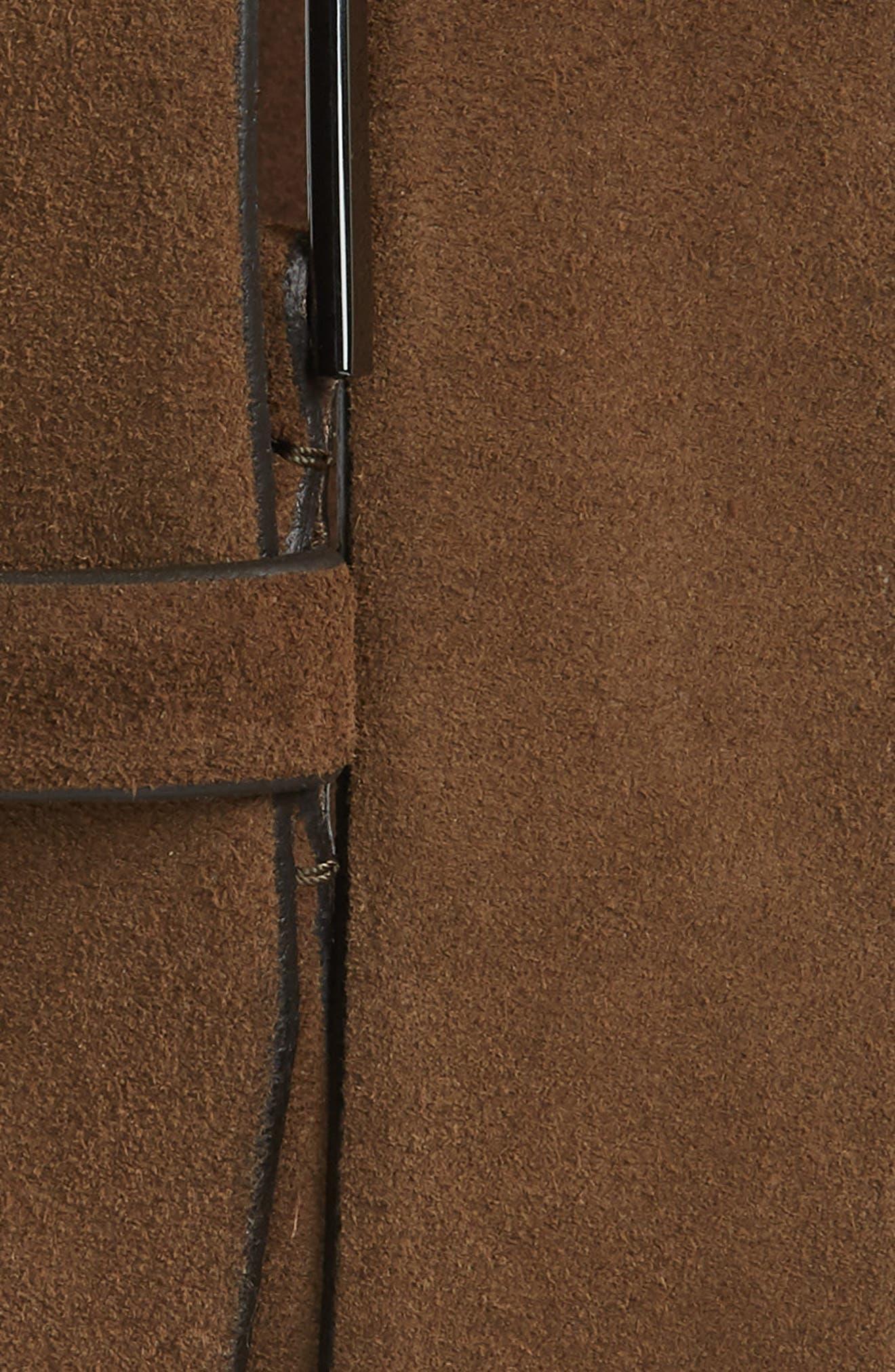 Calindo Suede Belt,                             Alternate thumbnail 2, color,                             Medium Brown