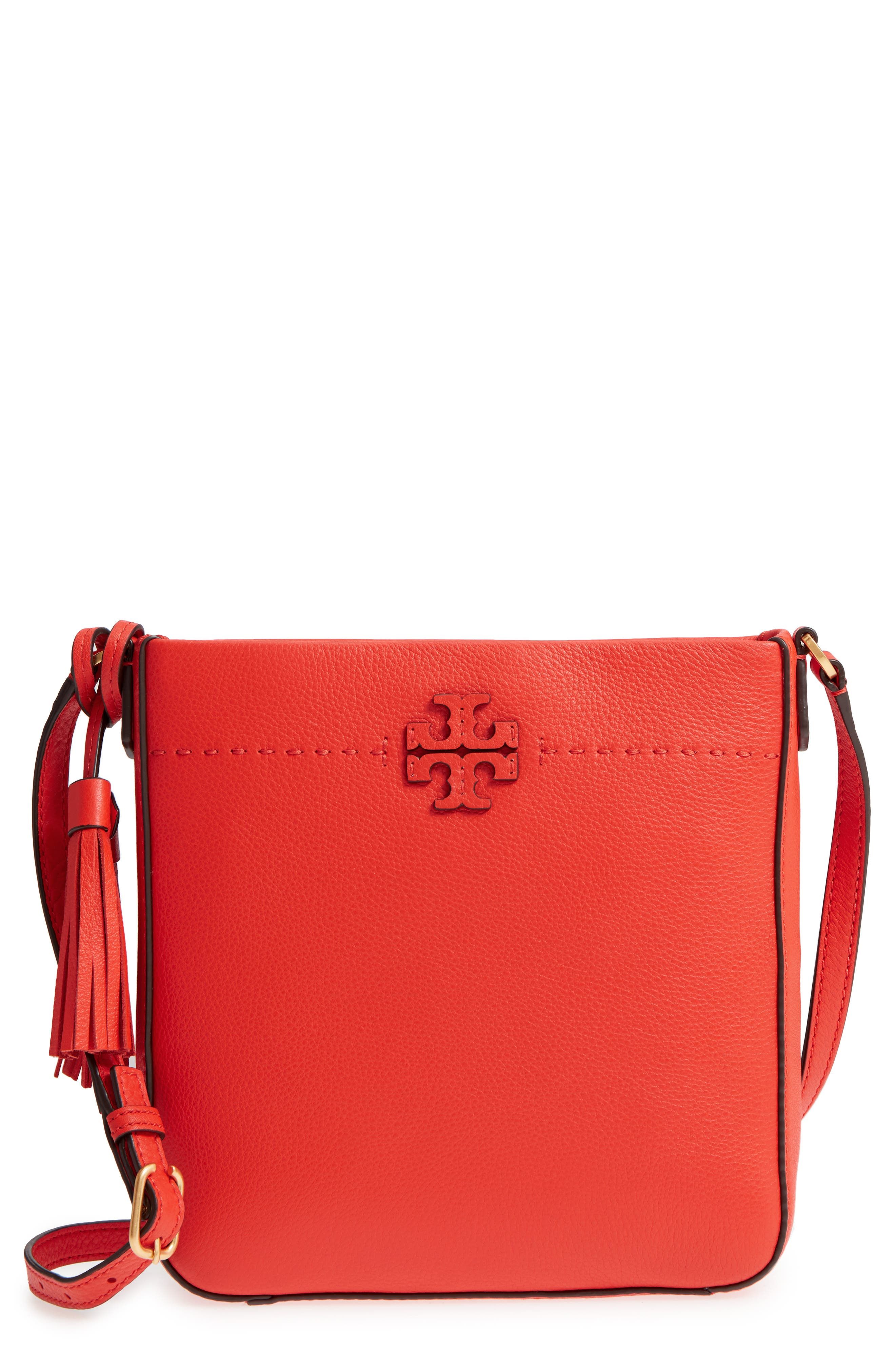 Tory Burch McGraw Leather Crossbody Tote