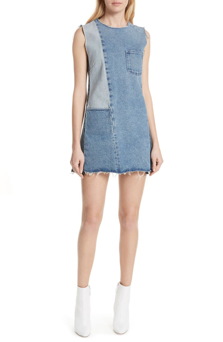 Hilary Patchwork Denim Dress