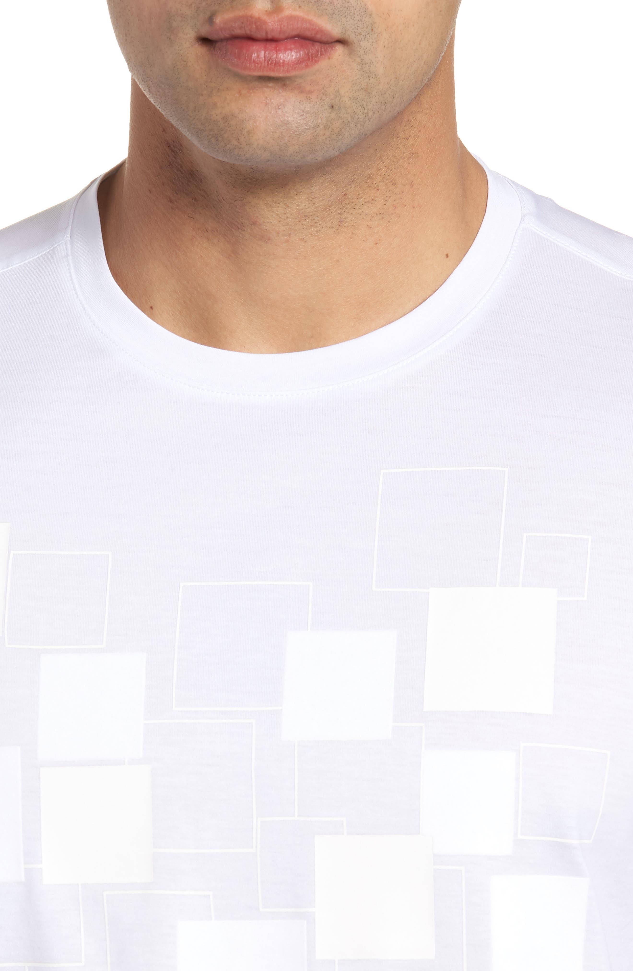 Crewneck T-Shirt,                             Alternate thumbnail 4, color,                             White