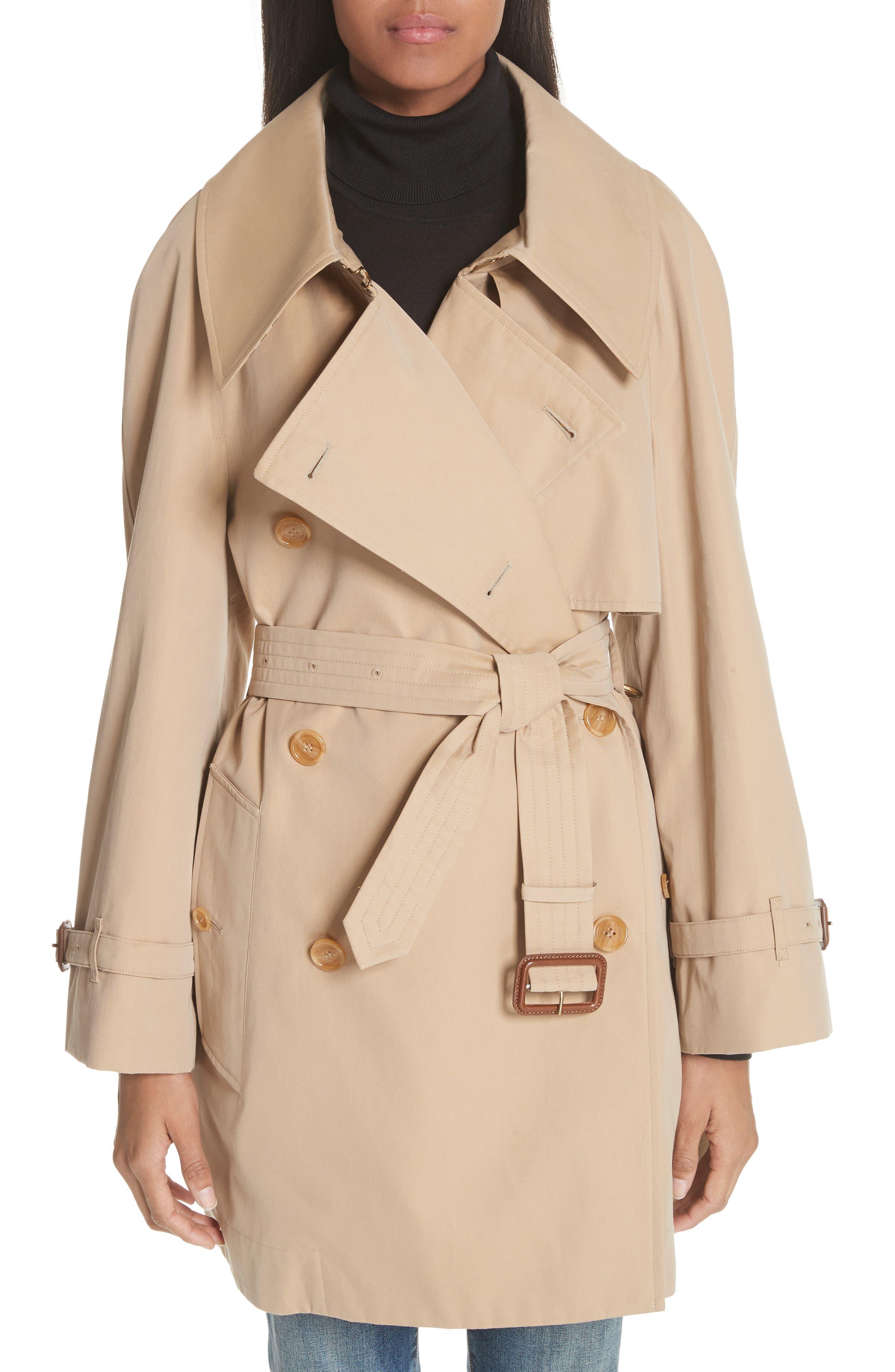Fortingall Cotton Gabardine Trench Coat,                         Main,                         color, Honey