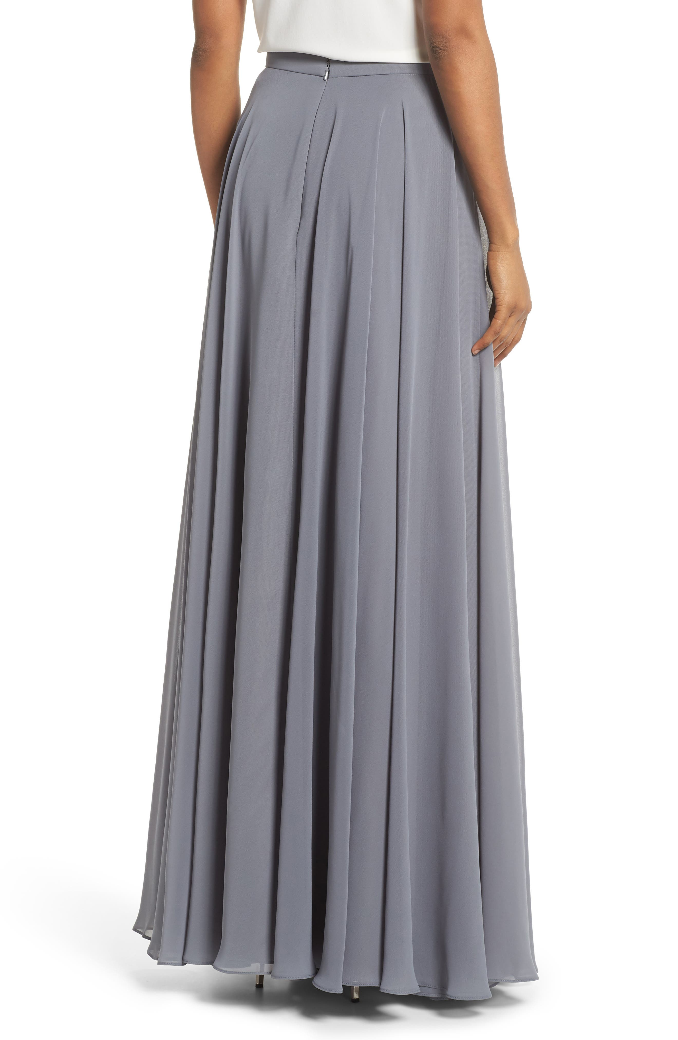 a skirt r knits floors apparel john skirts stjohnknits pencil nappa length shop gown stretch line bascavr floor leather st