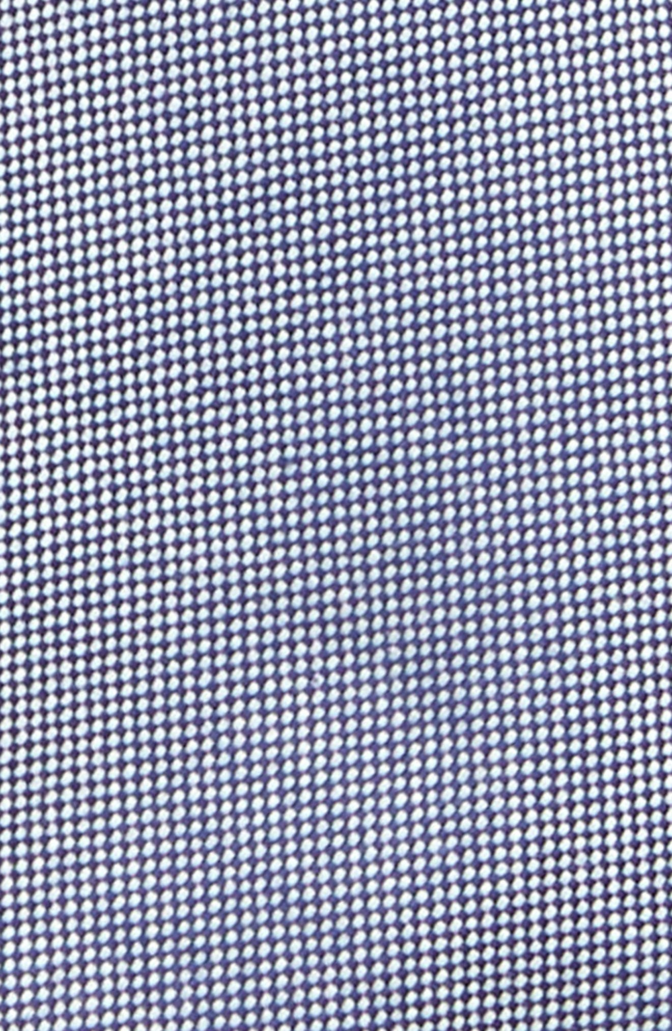Chambray Solid Silk Tie,                             Alternate thumbnail 2, color,                             Navy