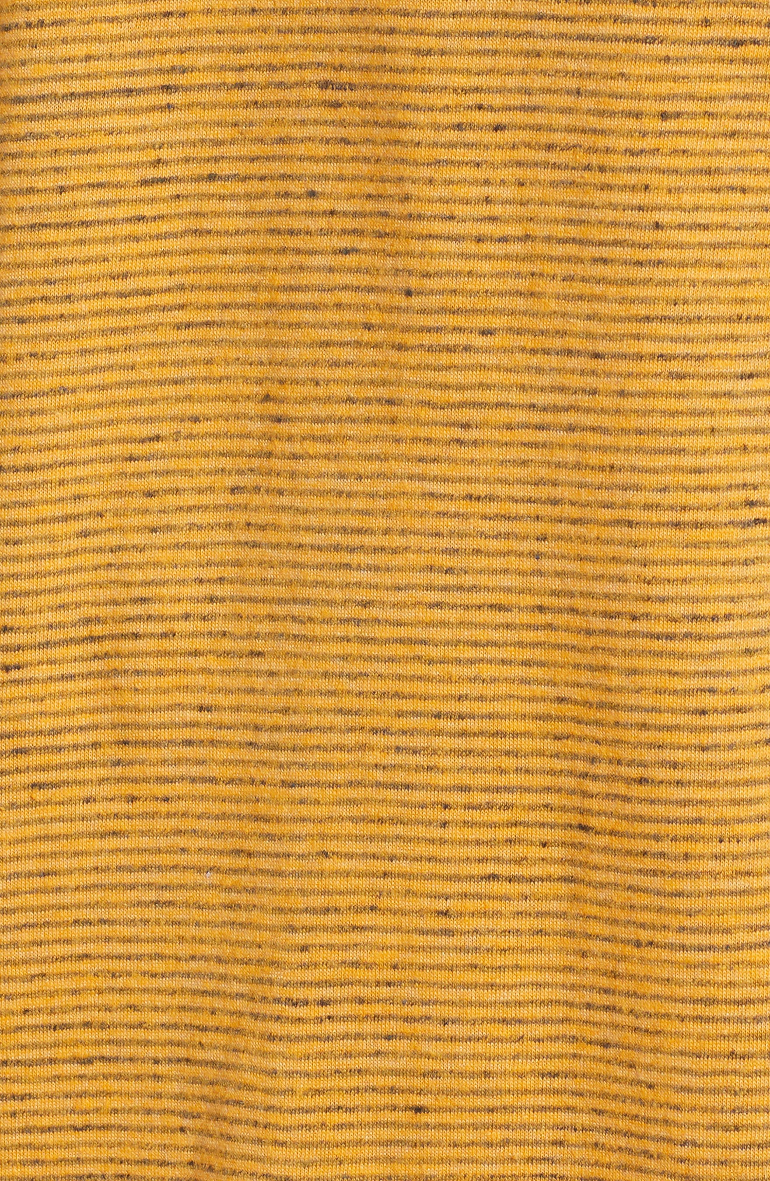 Fine Stripe V-Neck T-Shirt,                             Alternate thumbnail 5, color,                             Orange Lantana Heather Stripe