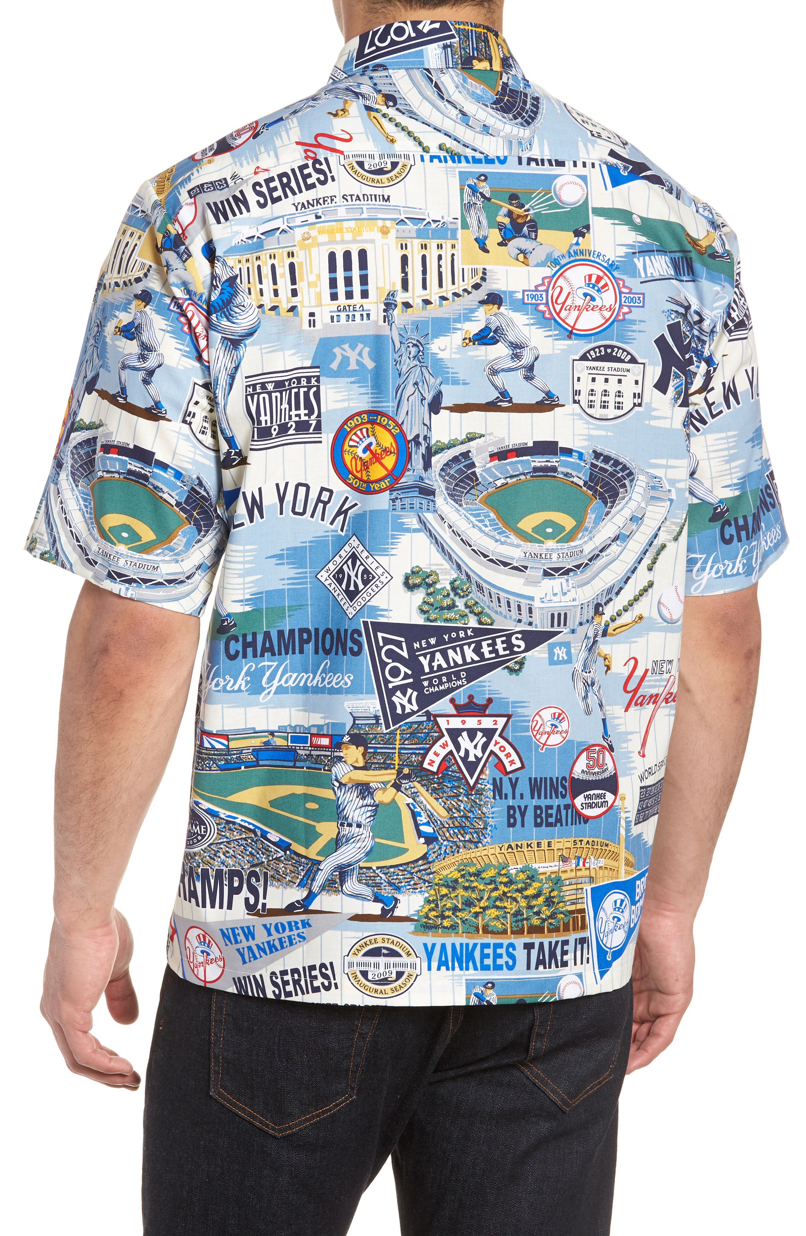 Alternate Image 2  - Reyn Spooner New York Yankees Classic Fit Camp Shirt