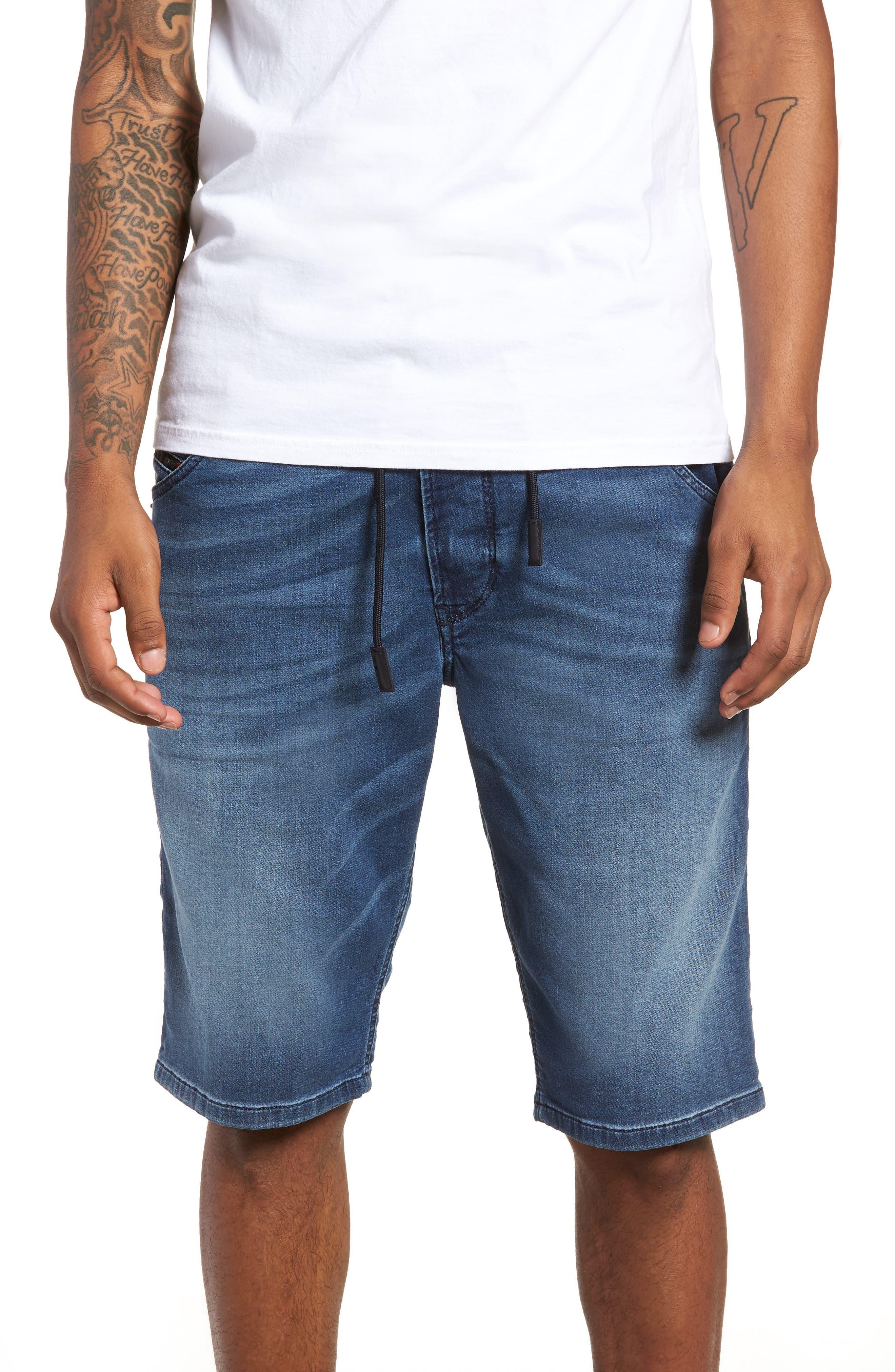 Krooshort Denim Shorts,                         Main,                         color, 0687C