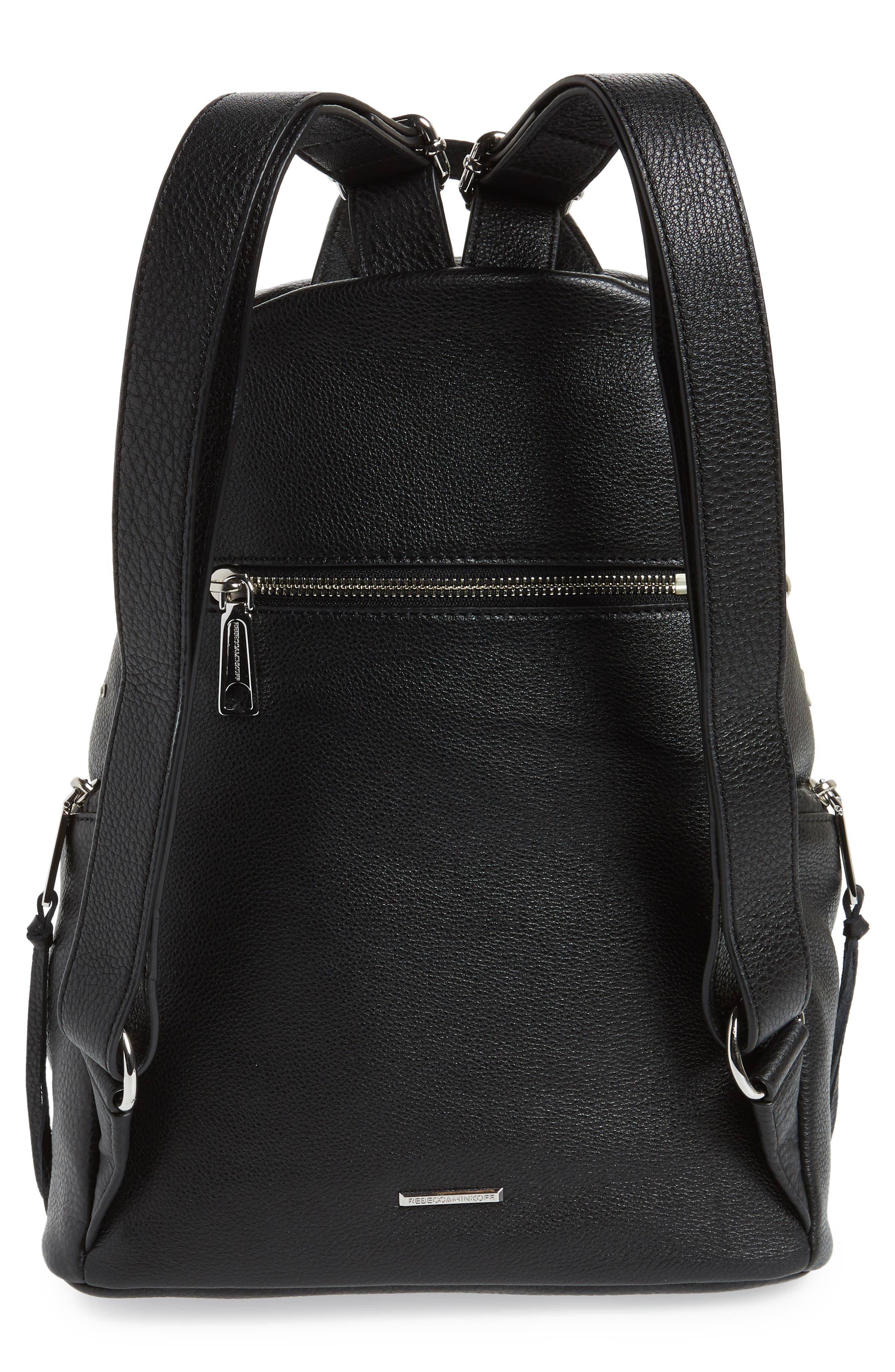 Julian Embellished Leather Backpack,                             Alternate thumbnail 3, color,                             Black