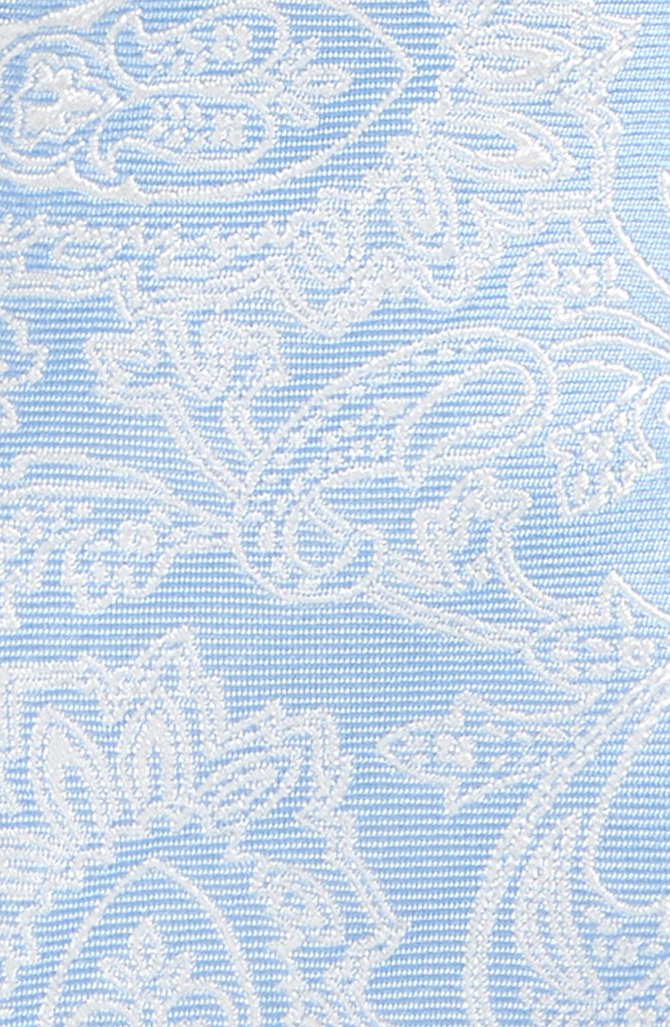 Paisley Drawing Silk Tie,                             Alternate thumbnail 2, color,                             Light Blue