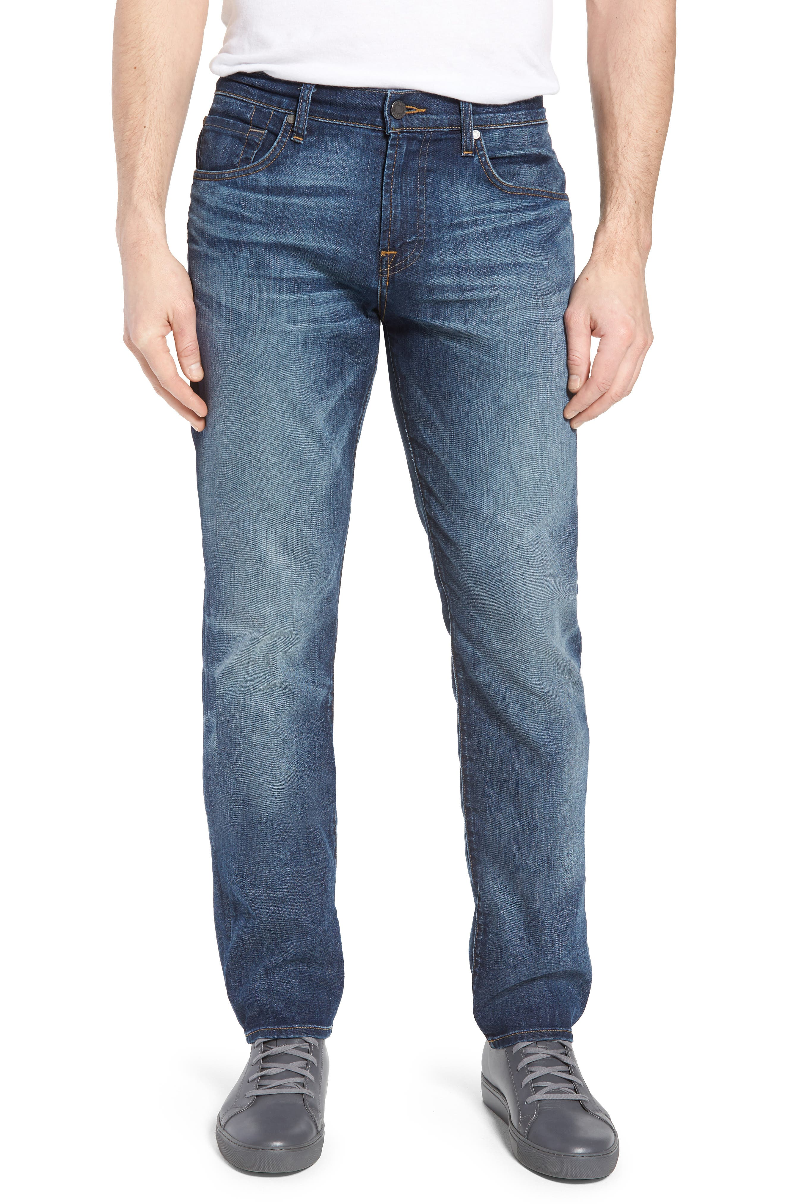 The Straight Slim Straight Leg Jeans,                             Main thumbnail 1, color,                             Recon