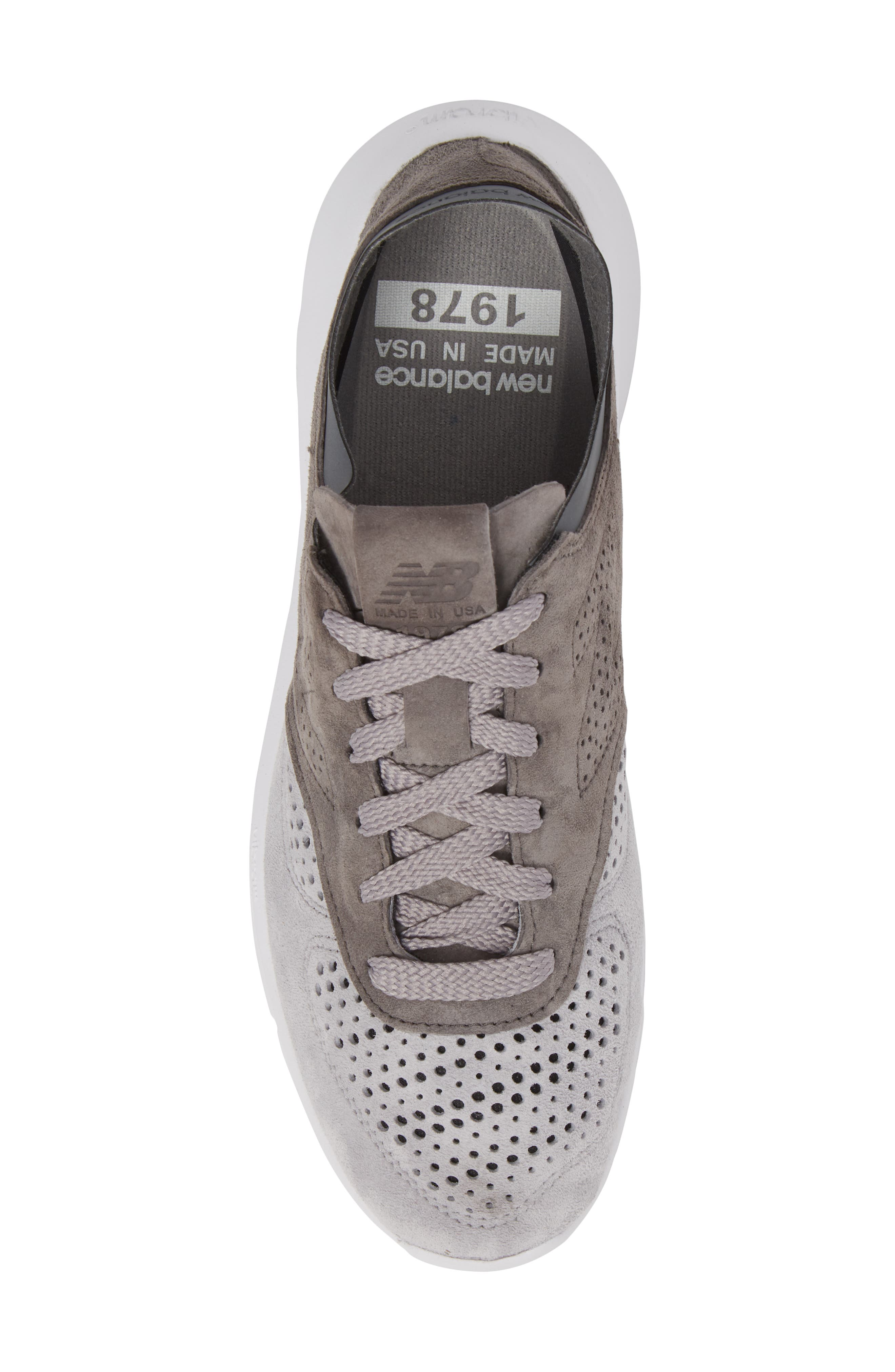 1978 Perforated Sneaker,                             Alternate thumbnail 5, color,                             Grey
