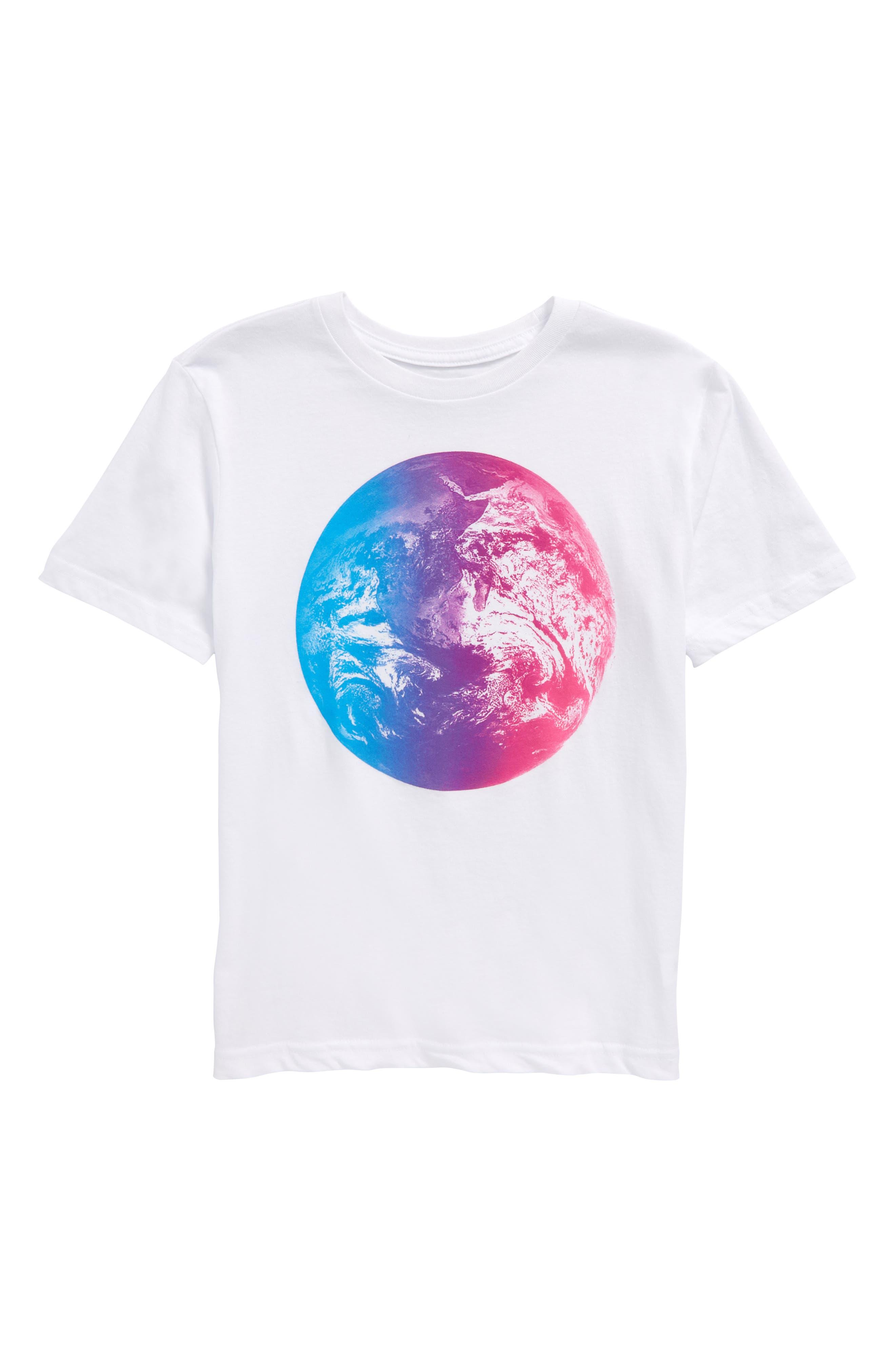 Graphic T-Shirt,                             Main thumbnail 1, color,                             White Multi Planet