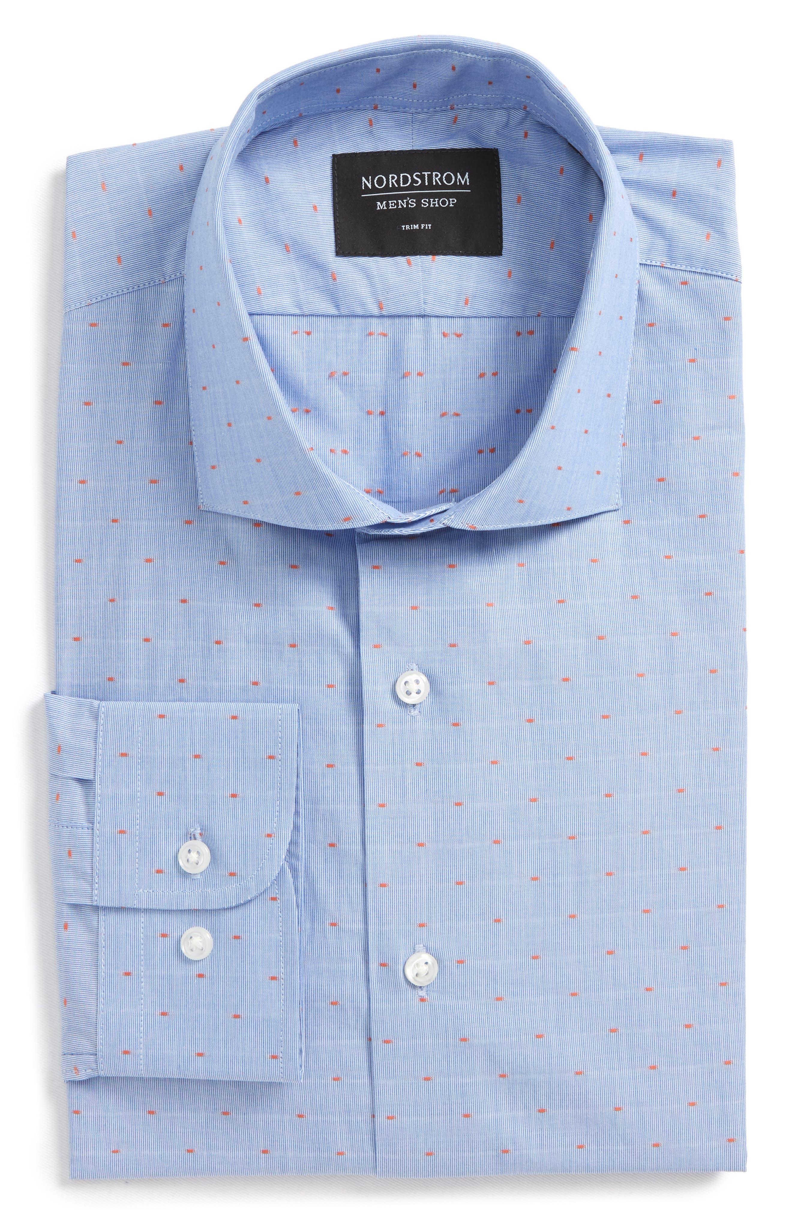 Nordstrom Men's Shop Trim Fit Dot Dress Shirt
