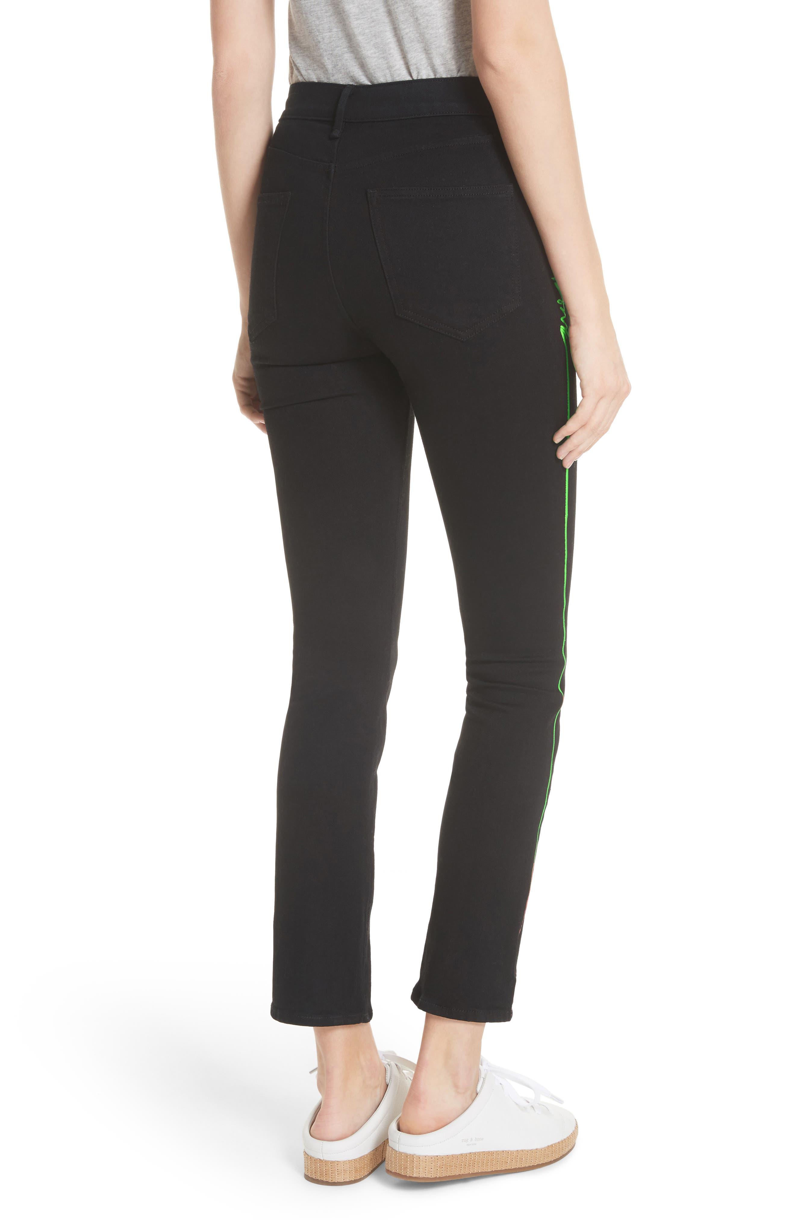 Alternate Image 2  - rag & bone/JEAN Ash High Waist Skinny Jeans (Stone Kuro)