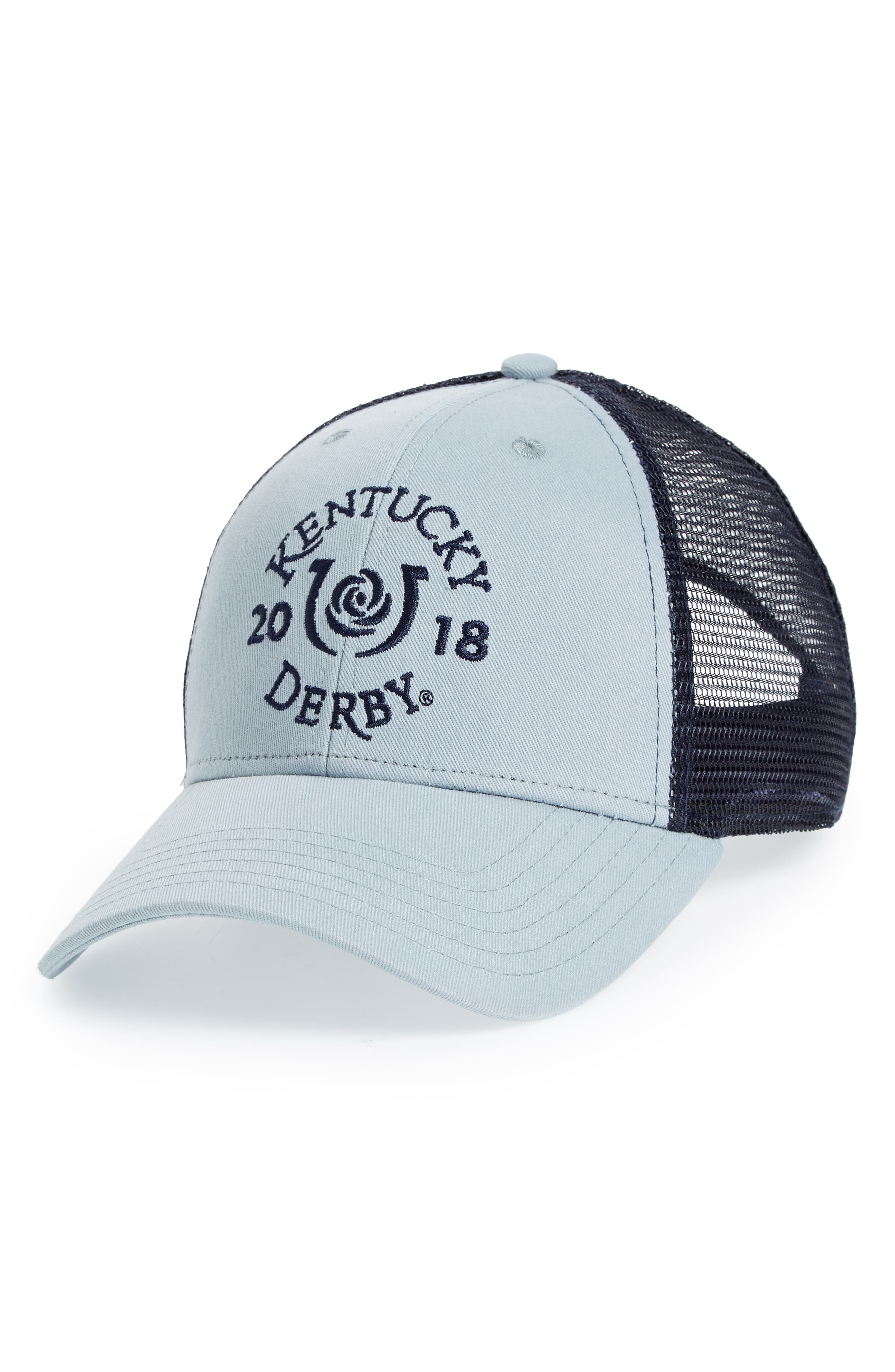2018 Kentucky Derby<sup>®</sup> Garland of Roses Ball Cap,                             Main thumbnail 1, color,                             Graphite