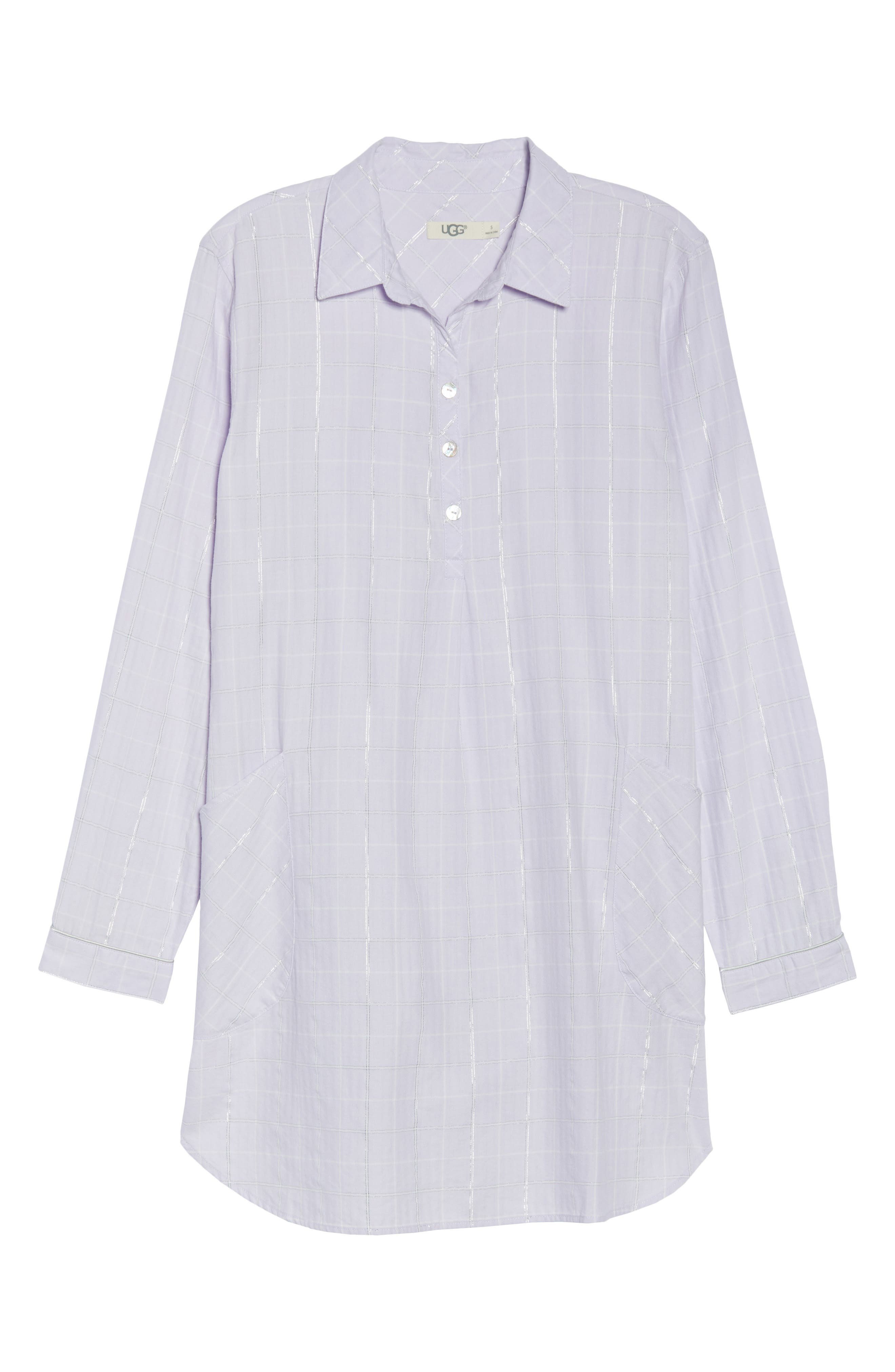 Gabri Sleep Shirt,                             Alternate thumbnail 4, color,                             Lavender Fog