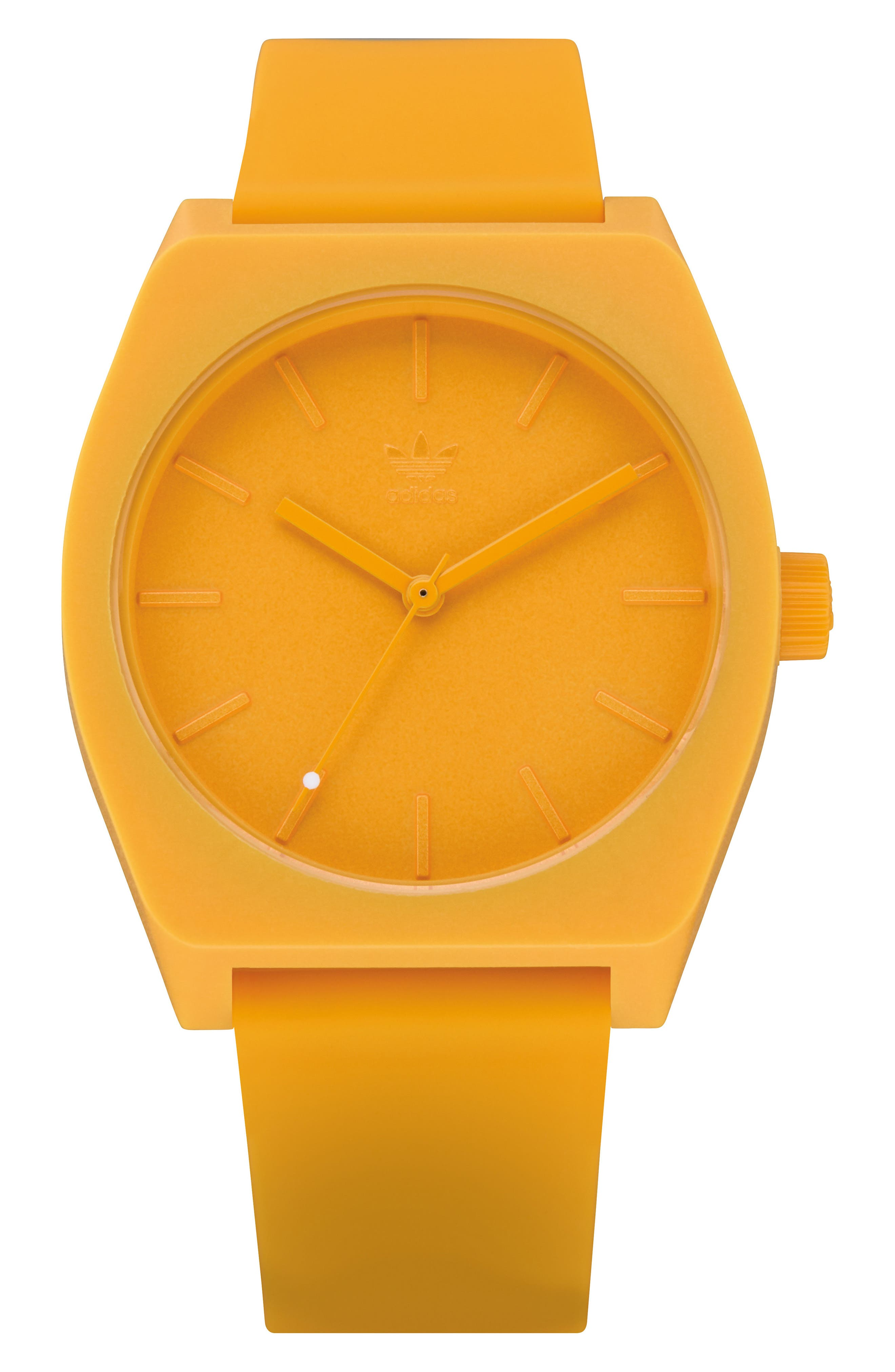 Process Silicone Strap Watch, 38mm,                             Main thumbnail 1, color,                             Gold